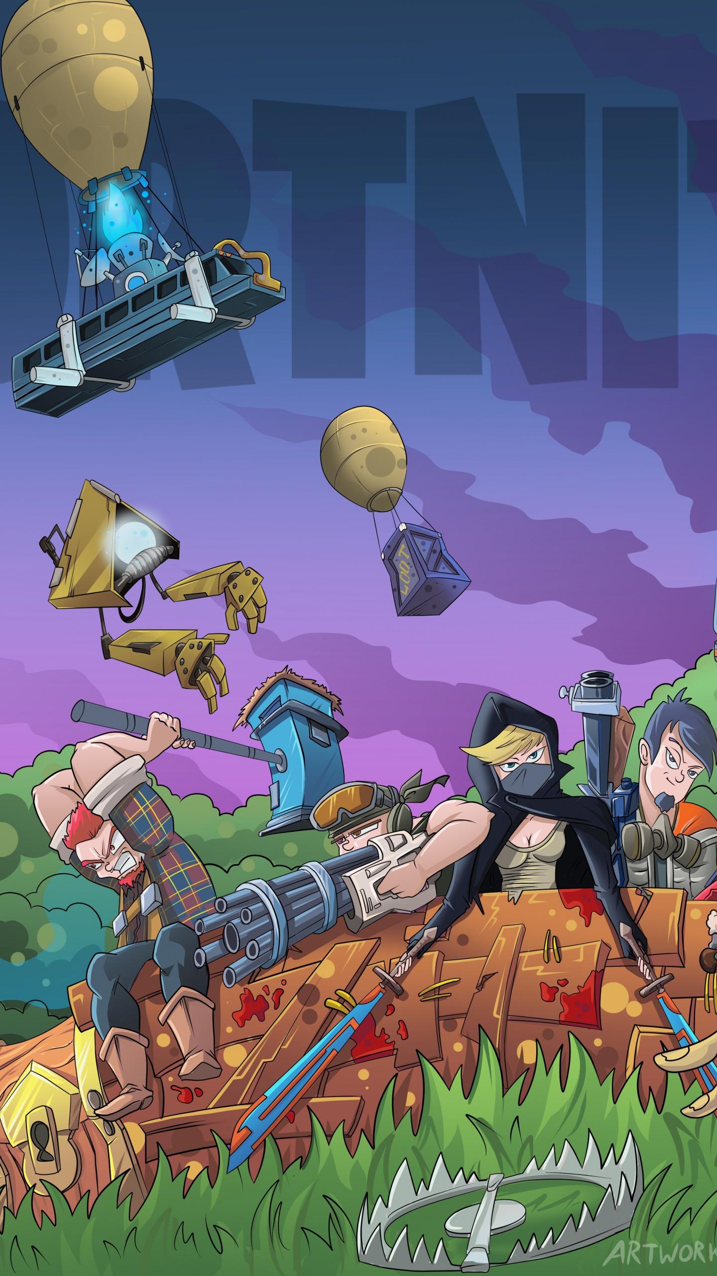 fortnite video game landscape 1440x2560 wallpaper - lg fortnite download