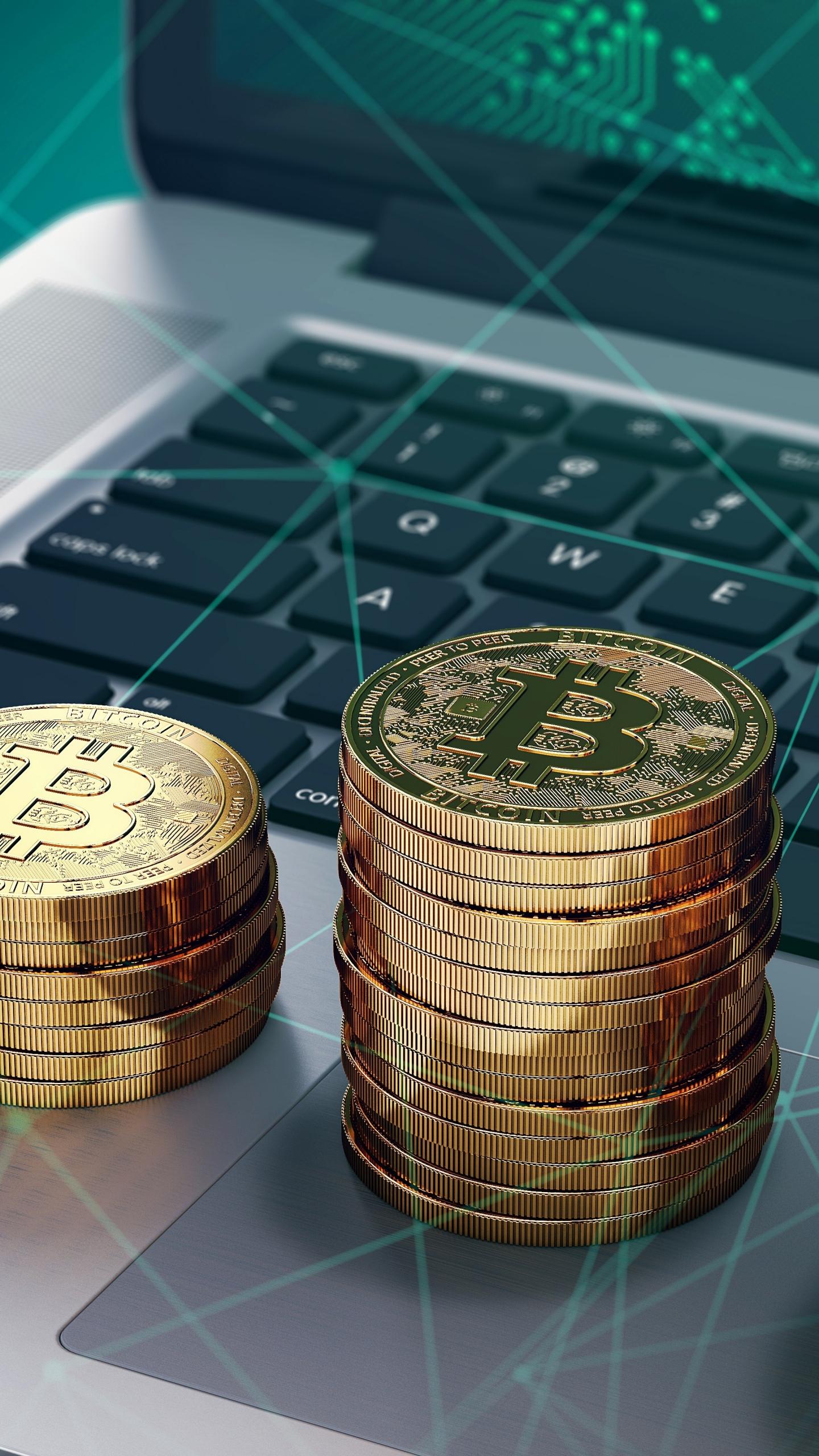 Crypto coins, Bitcoin, tech, 1440x2560 wallpaper