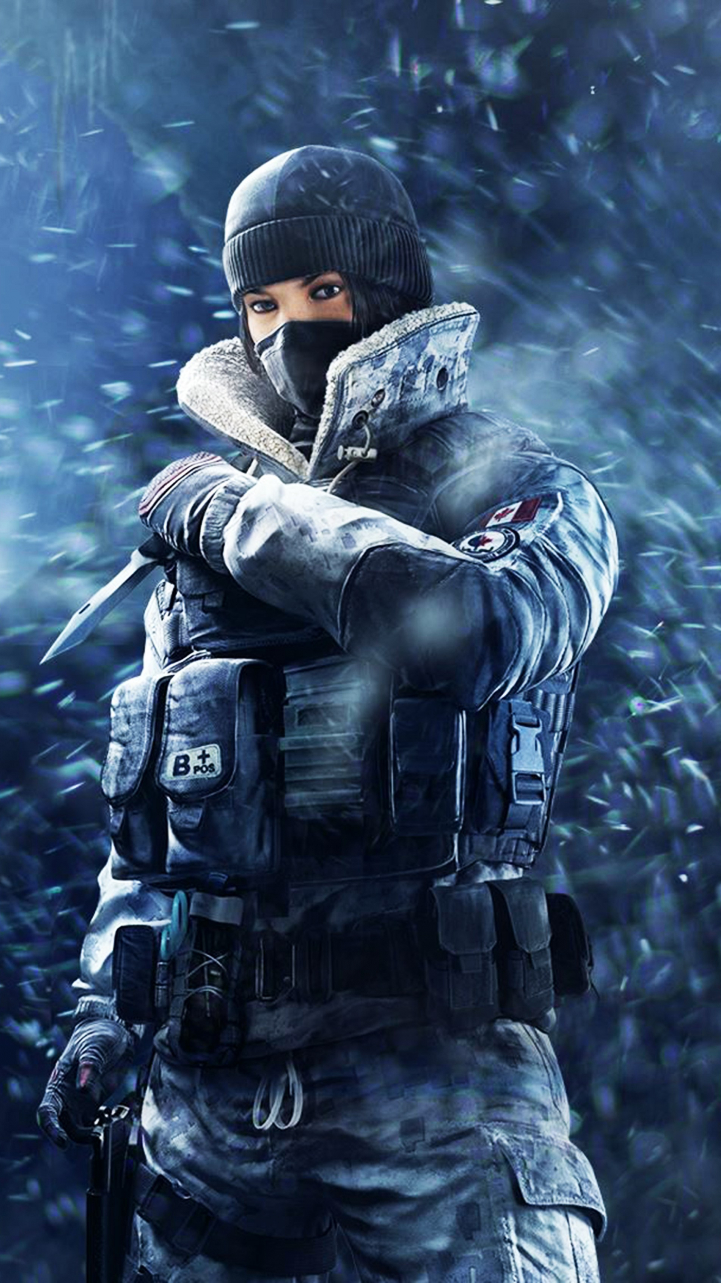 Tom Clancy's Rainbow Six Siege, girl soldier, frost, game, 1440x2560 wallpaper