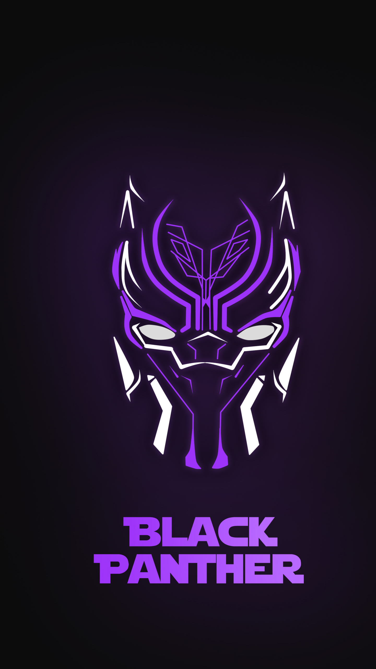 Download 1440x2560 Wallpaper Black Panther Neon Minimal 2018 Qhd Samsung Galaxy S6 S7 Edge Note Lg G4 1440x2560 Hd Image Background 8067