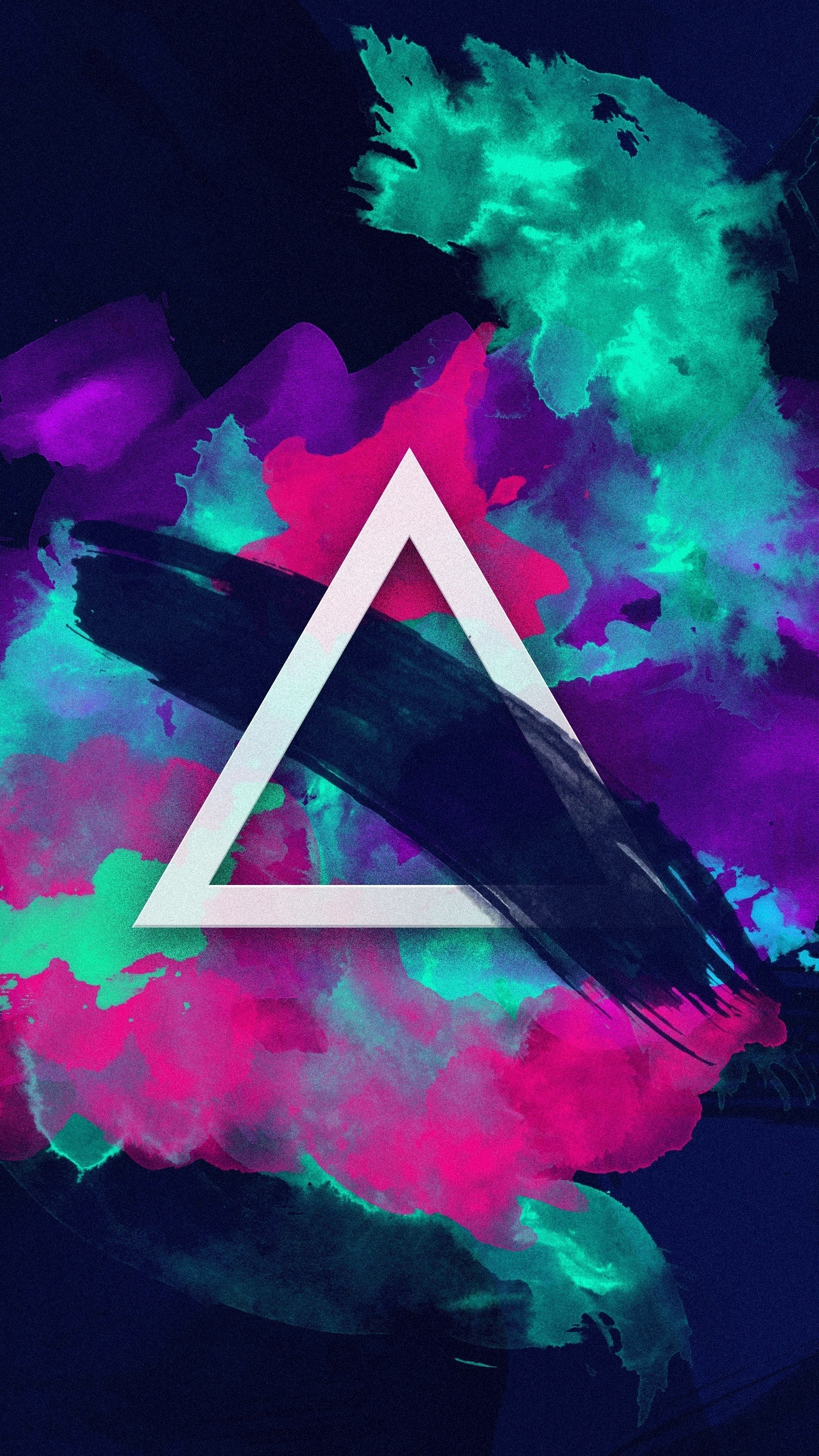 triangle paint colorful neon