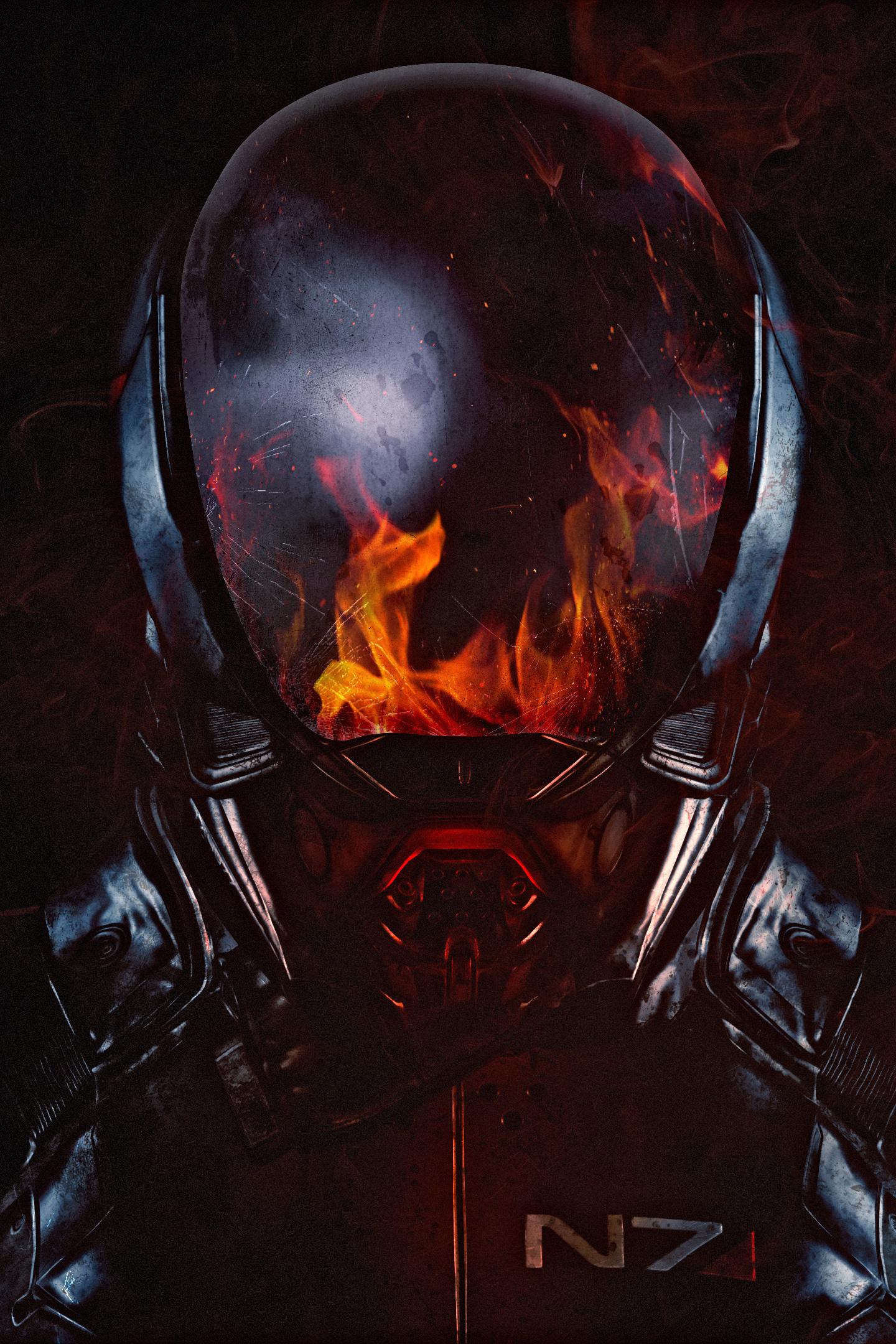 Download 1440x2560 wallpaper mass effect andromeda n7 soldier flame helmet qhd samsung - Mass effect andromeda 1920x1080 ...