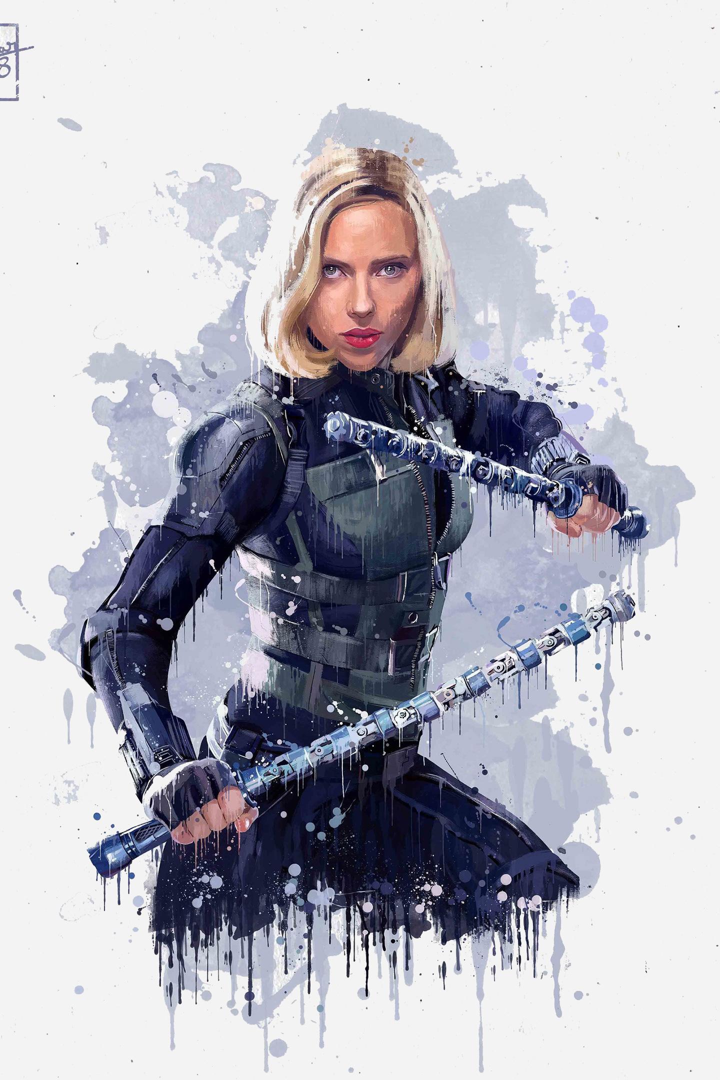 Download 1440x2560 Wallpaper Black Widow Avengers Infinity