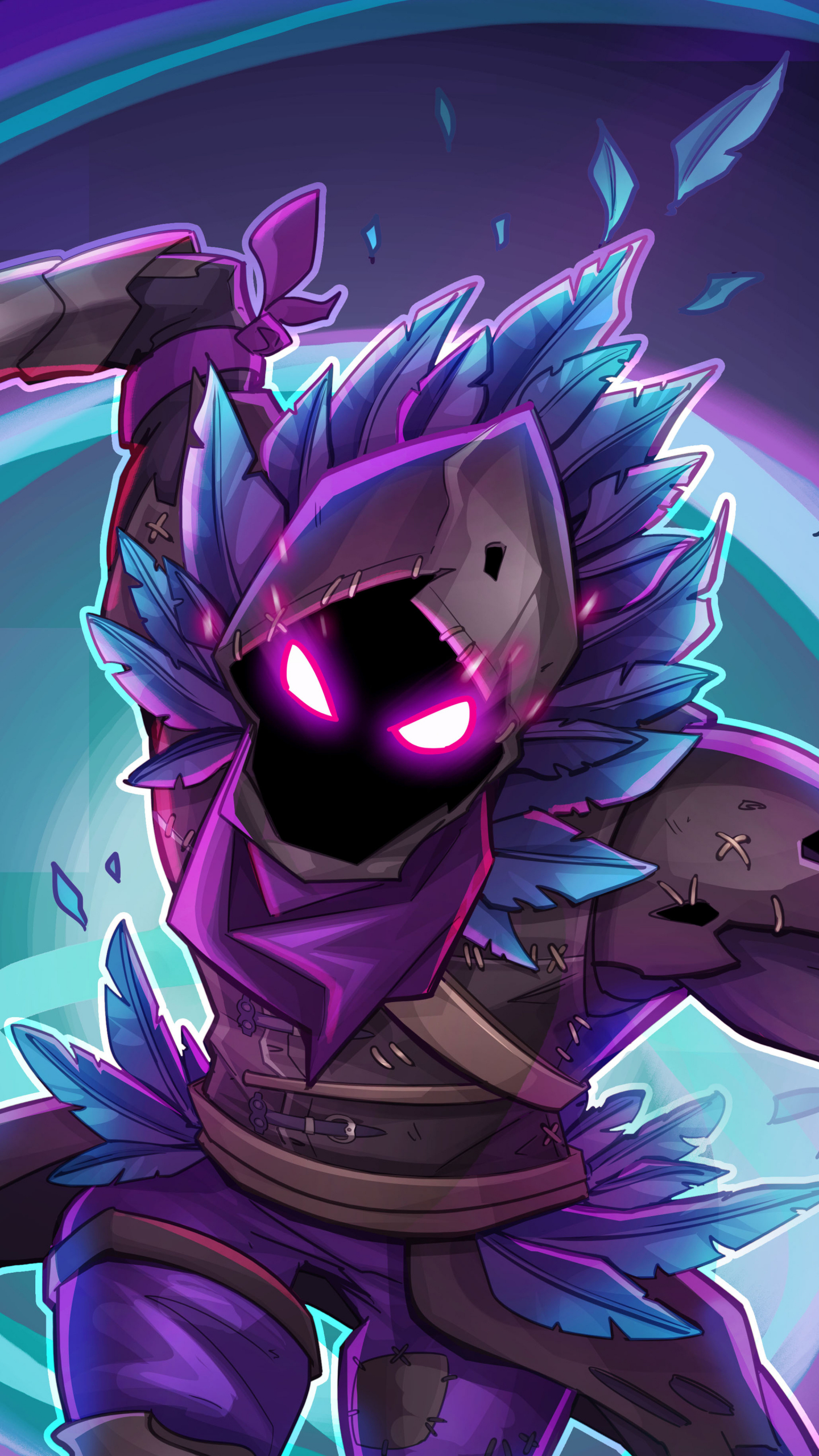 raven fortnite battle royale creature game 1440x2560 wallpaper - is fortnite available on samsung s6