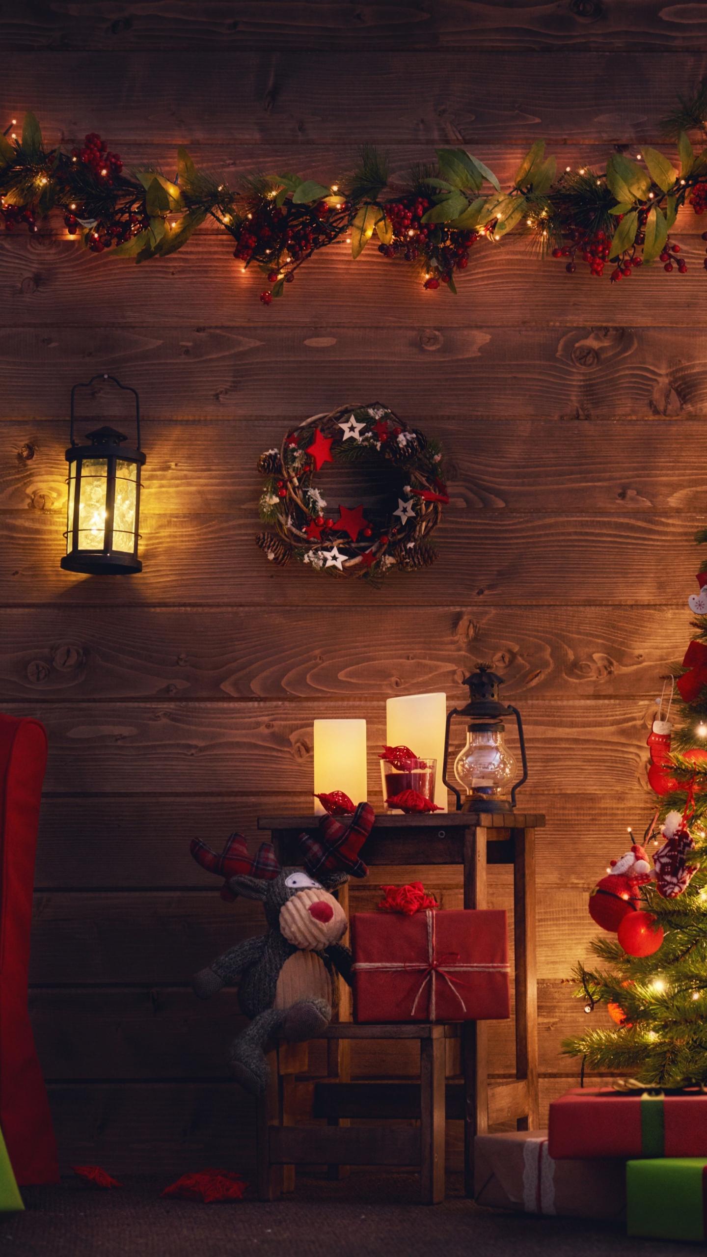 Download 1440x2560 Wallpaper Christmas Tree Holiday