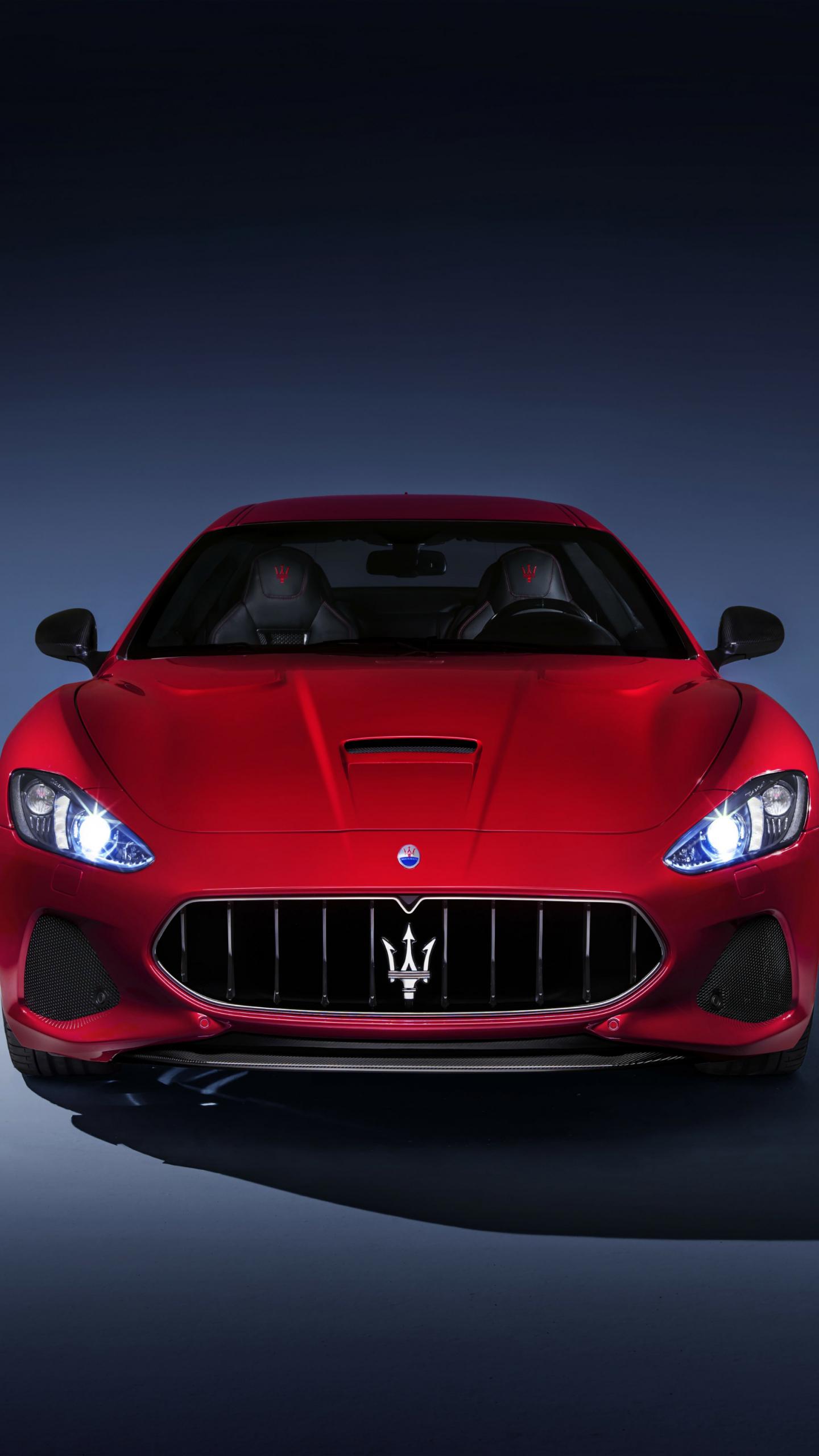 Download 1440x2560 Wallpaper Maserati Granturismo Sports Car Front