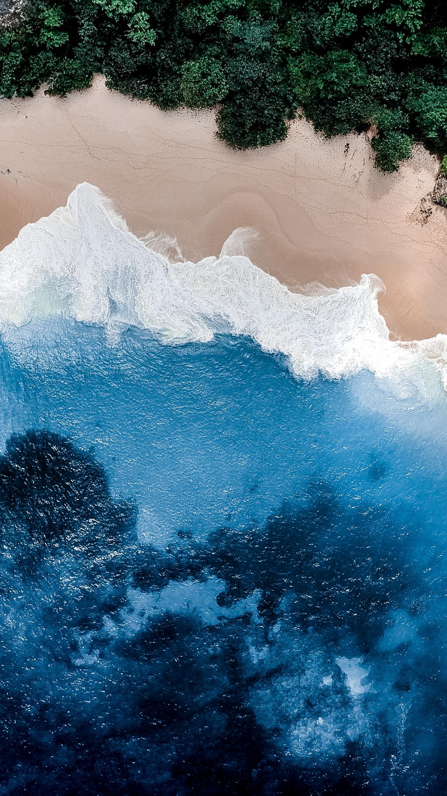 Download 1440x2560 wallpaper nature beach coast aerial - Nature wallpaper 4k phone ...