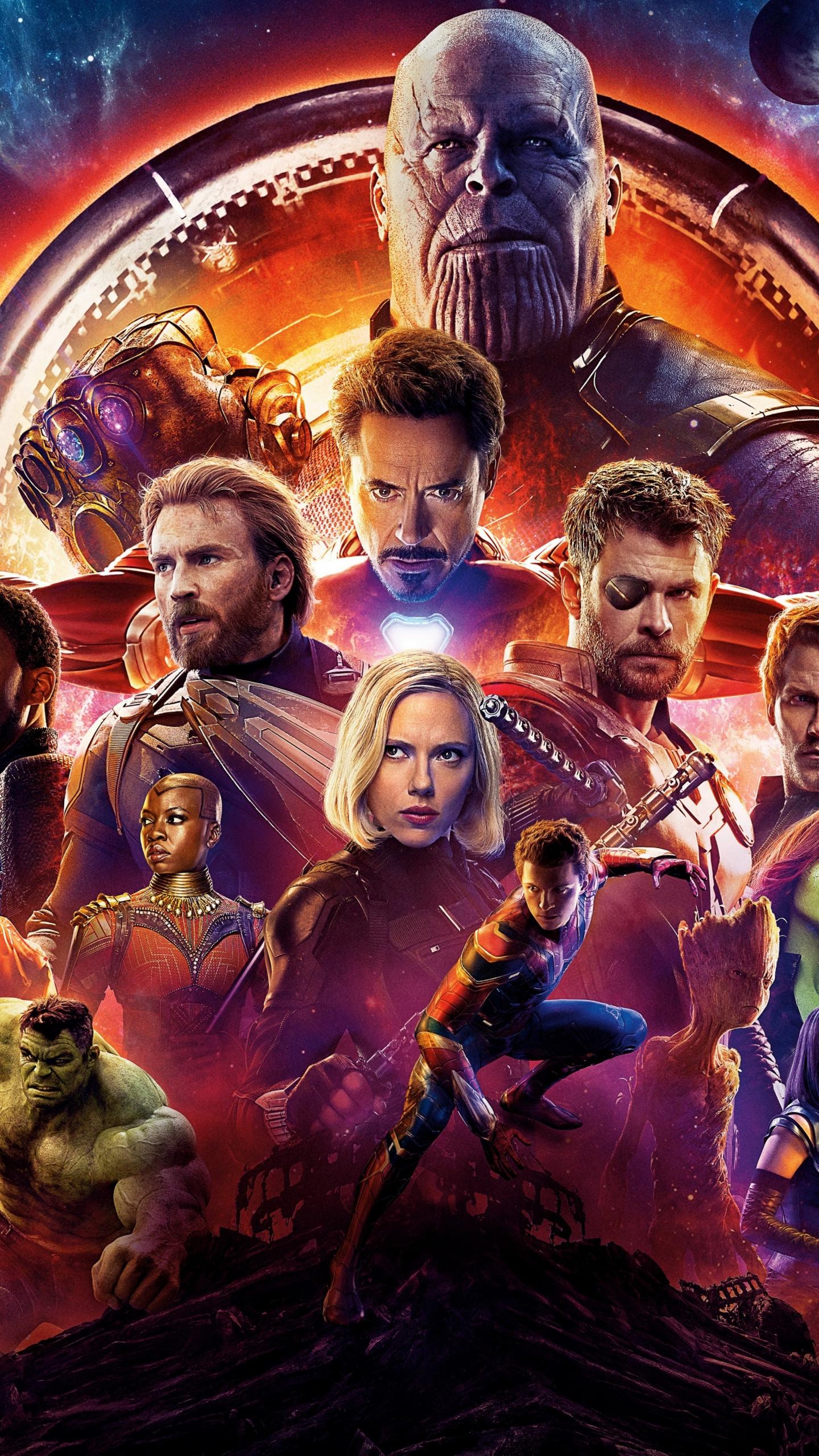 Download 1440x2560 wallpaper avengers: infinity war, movie ...