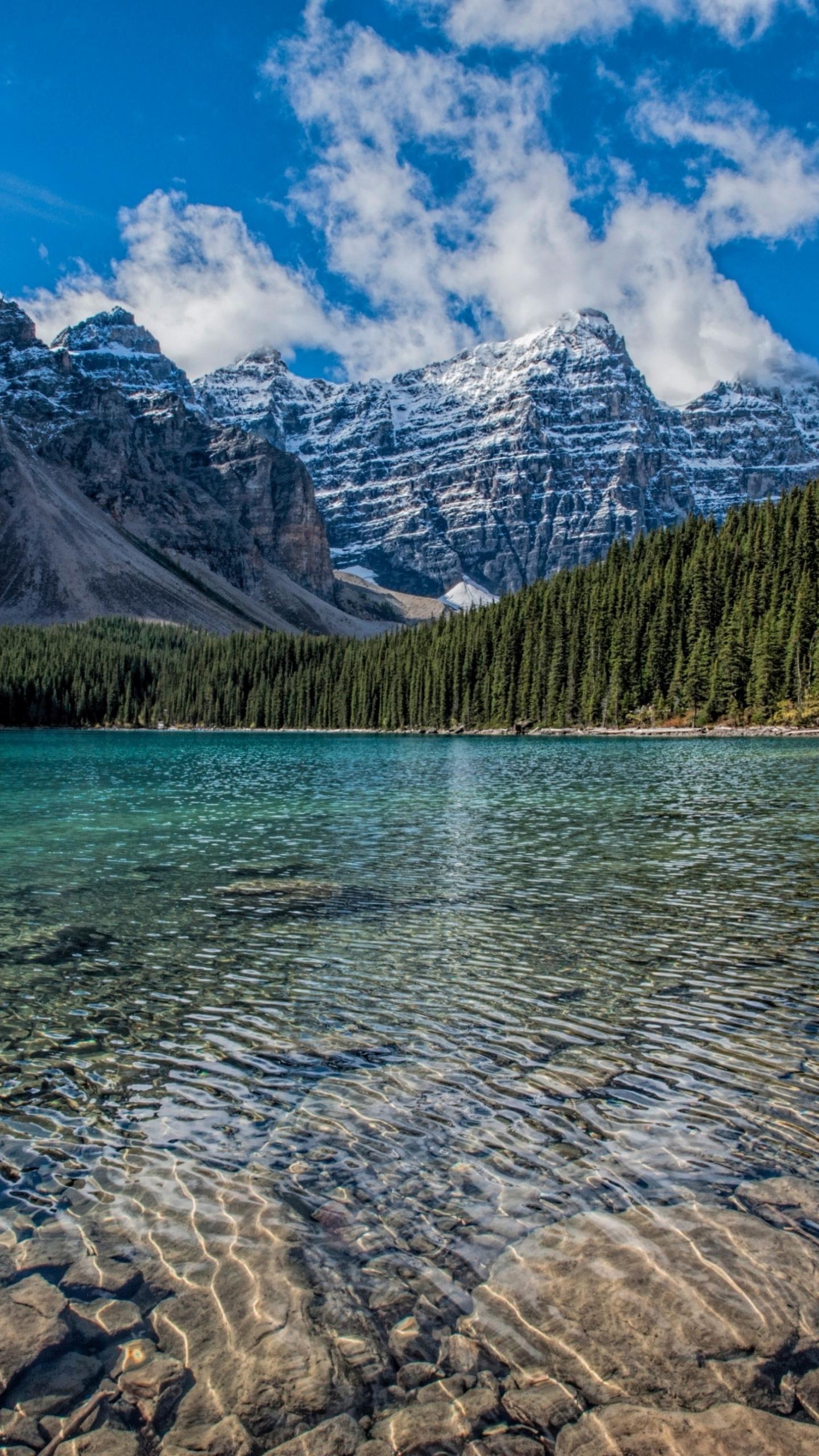 Fantastic Wallpaper Mountain Samsung Galaxy S7 - clean-lake-mountains-range-trees-nature-4k  You Should Have_738430.jpg