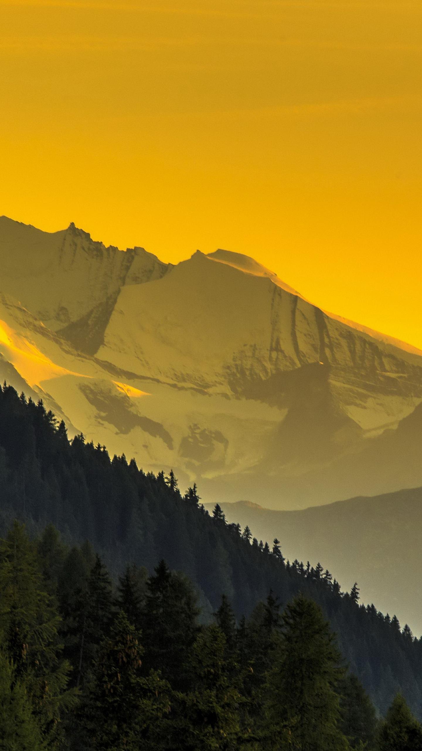 Download 1440x2560 Wallpaper Mountains Horizon Dawn Sunrise Yellow Sky Nature Qhd Samsung Galaxy S6 S7 Edge Note Lg G4 1440x2560 Hd Image Background 10047