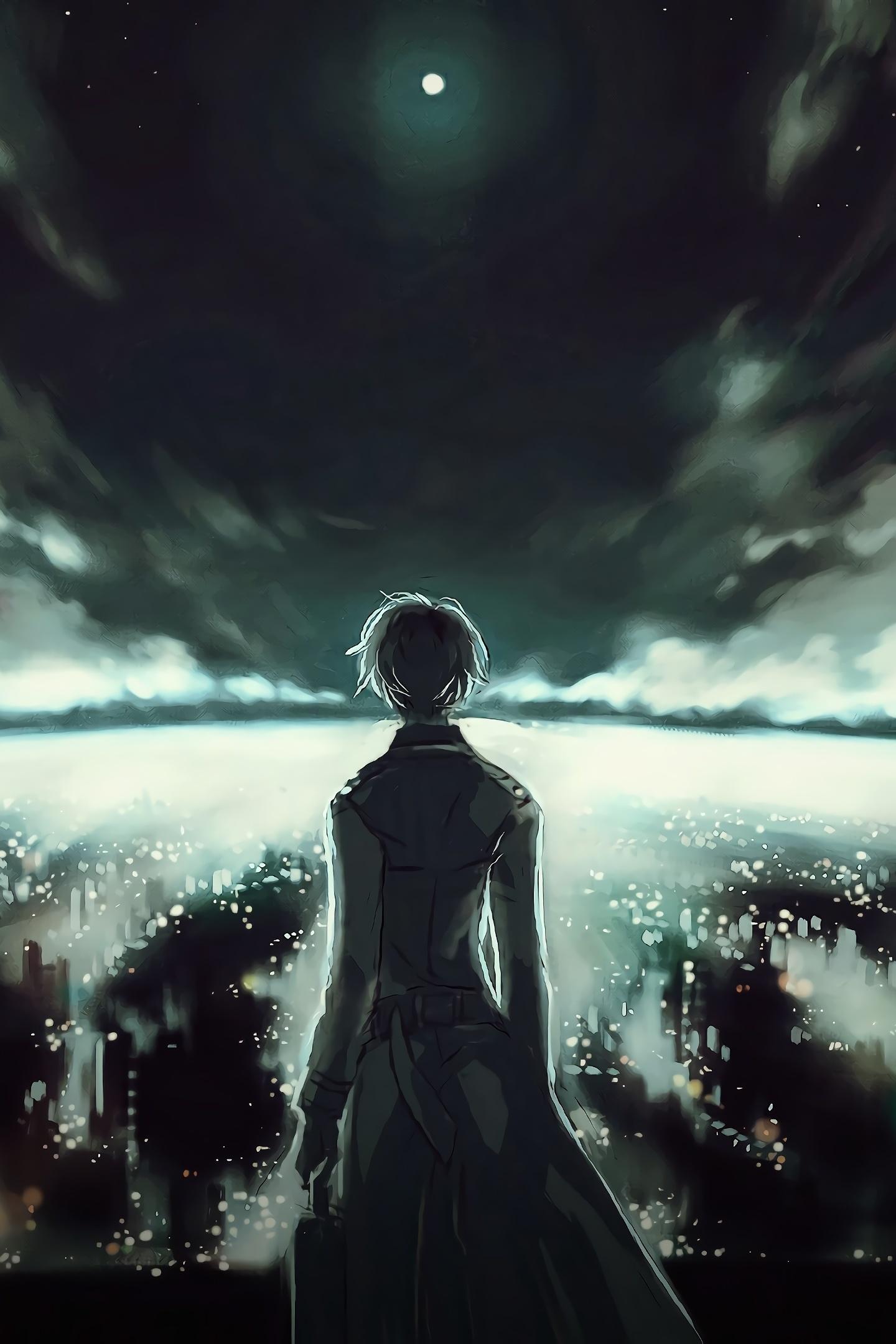 Download 1440x2560 wallpaper ken kaneki, tokyo ghoul, anime, dark