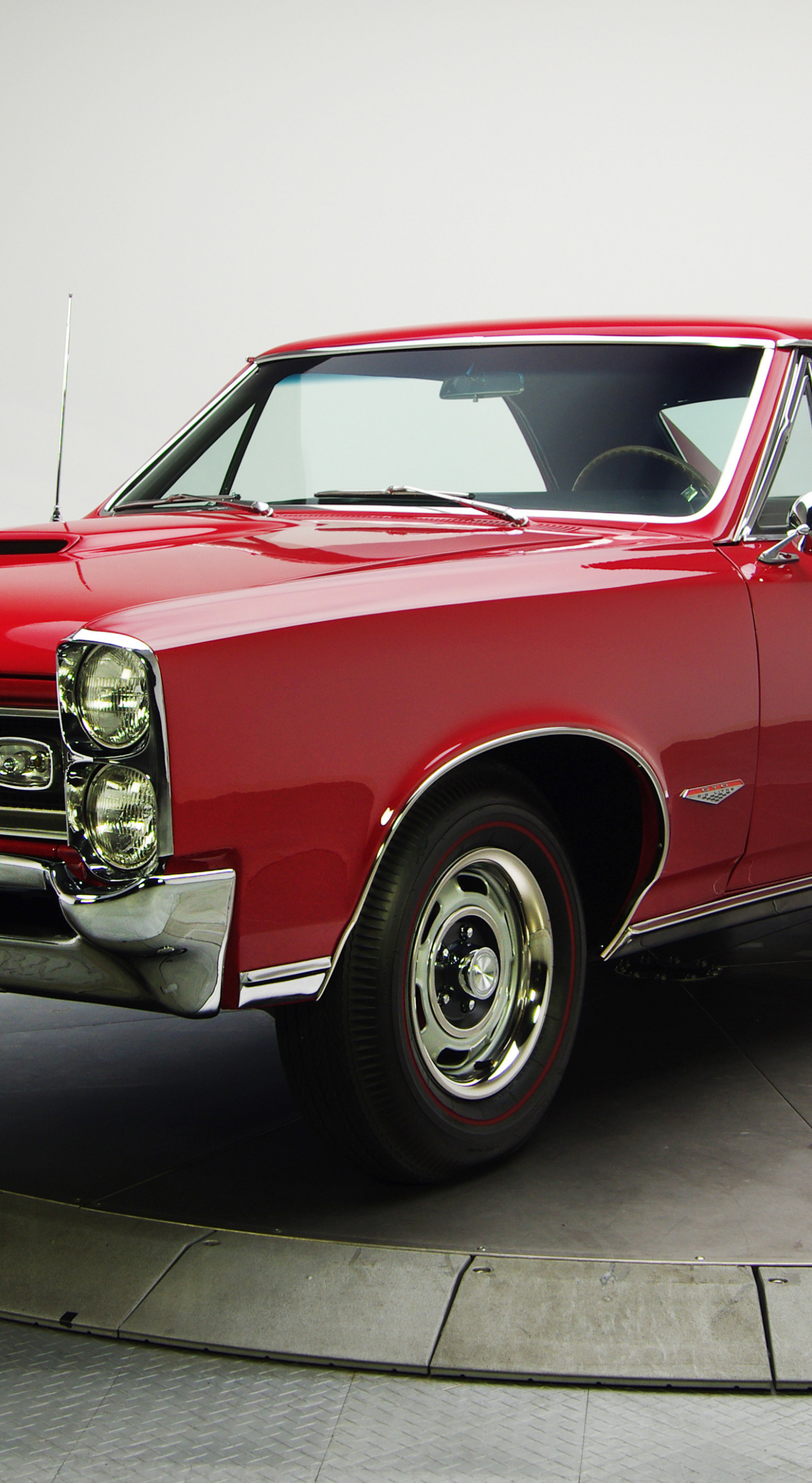 Download 1440x2630 Wallpaper Red Pontiac Gto Muscle