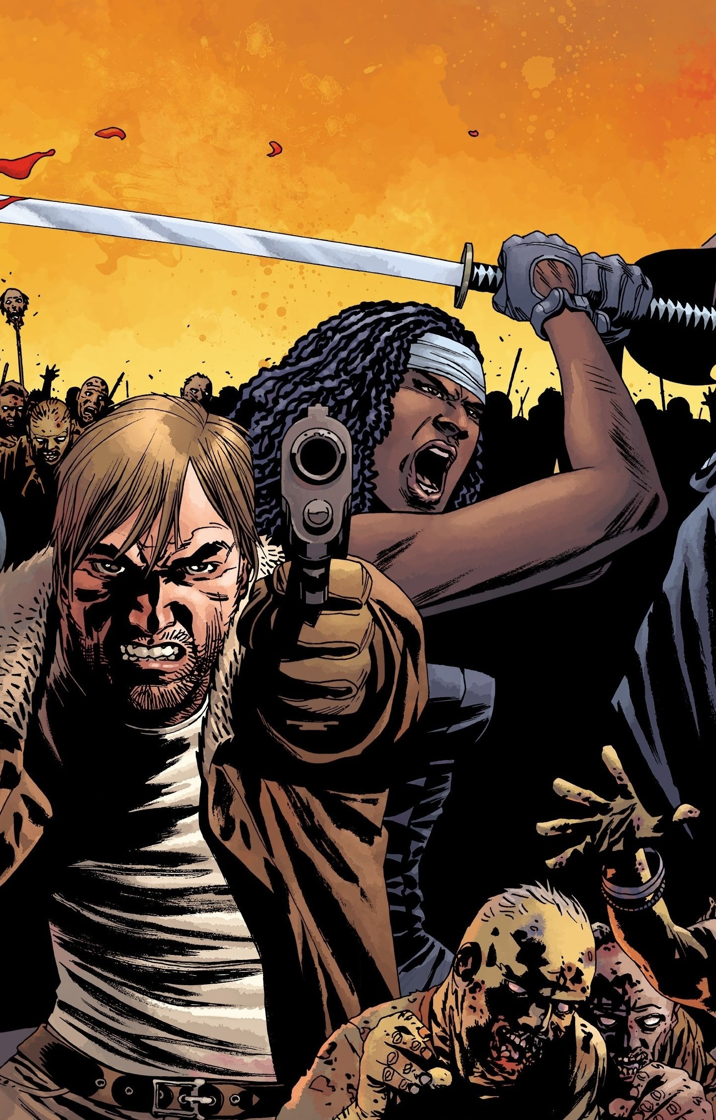 Download 1440x2630 Wallpaper The Walking Dead Comics Zombies Samsung Galaxy Note 8 Hd Image Background 4701