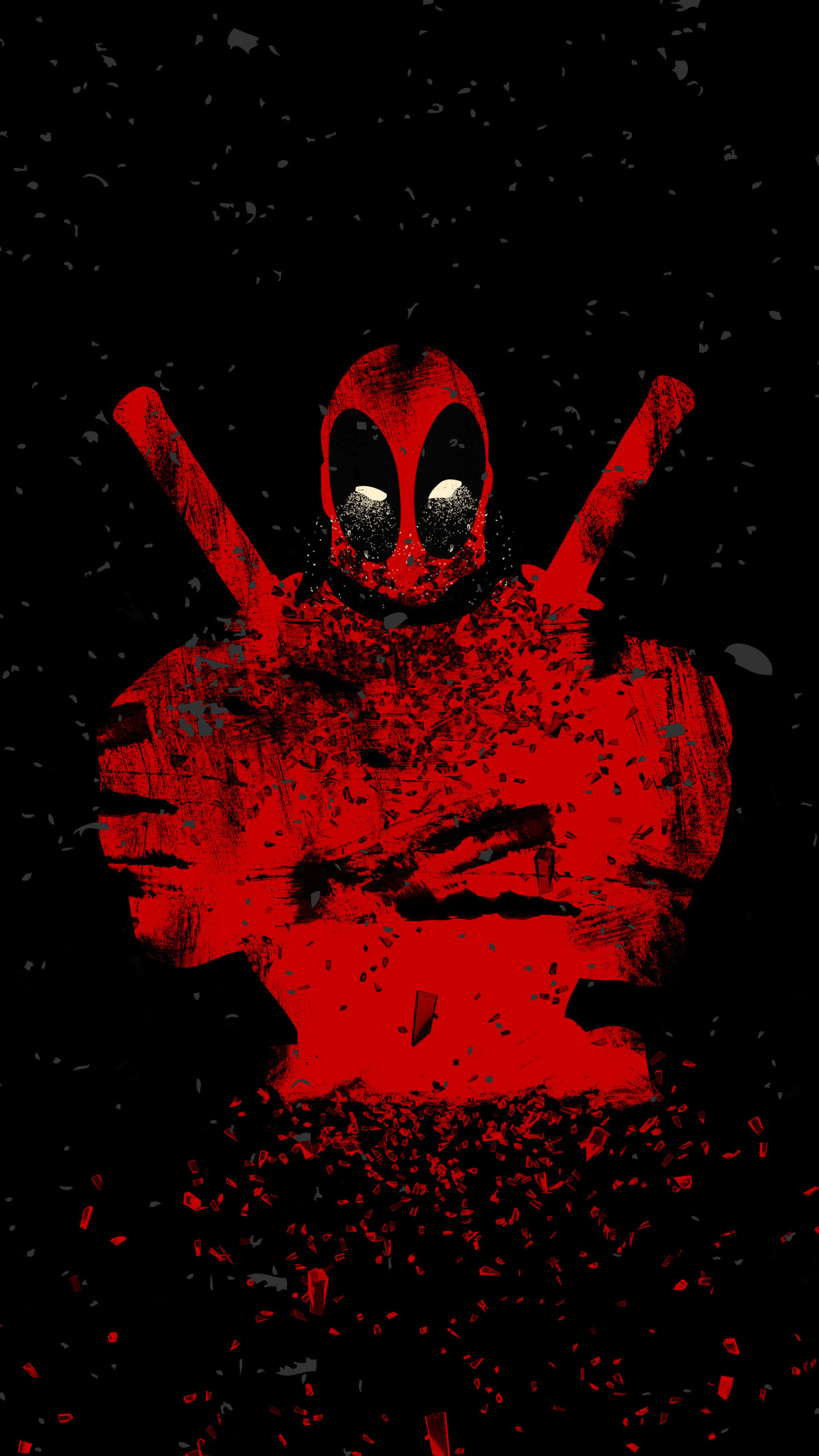 Download 1440x2630 Wallpaper Deadpool Shattered Art Abstract Samsung Galaxy Note 8 1440x2630 Hd Image Background 2195