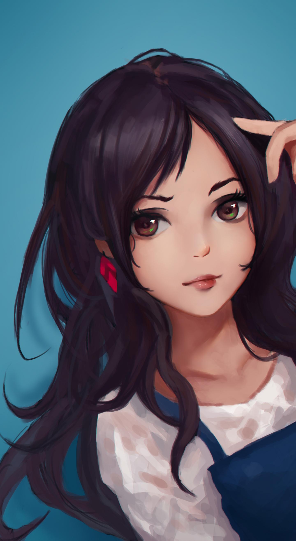 Beautiful Long Hair Cute Wallpaper Smug Anime Girl