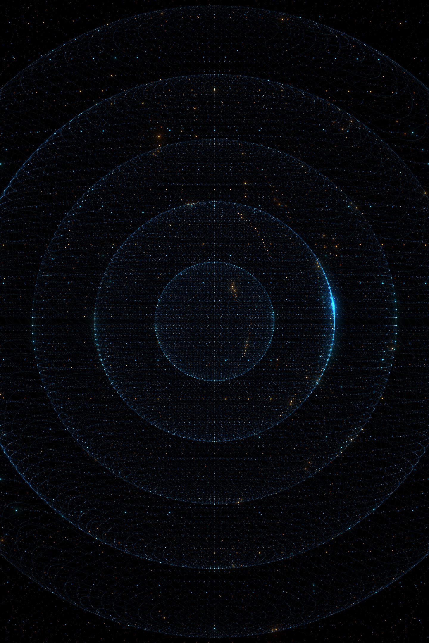 Download 1440x2630 Wallpaper Particles Dark Circles