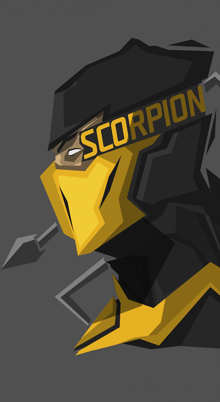 Download 1440x2630 wallpaper scorpion, mortal kombat x