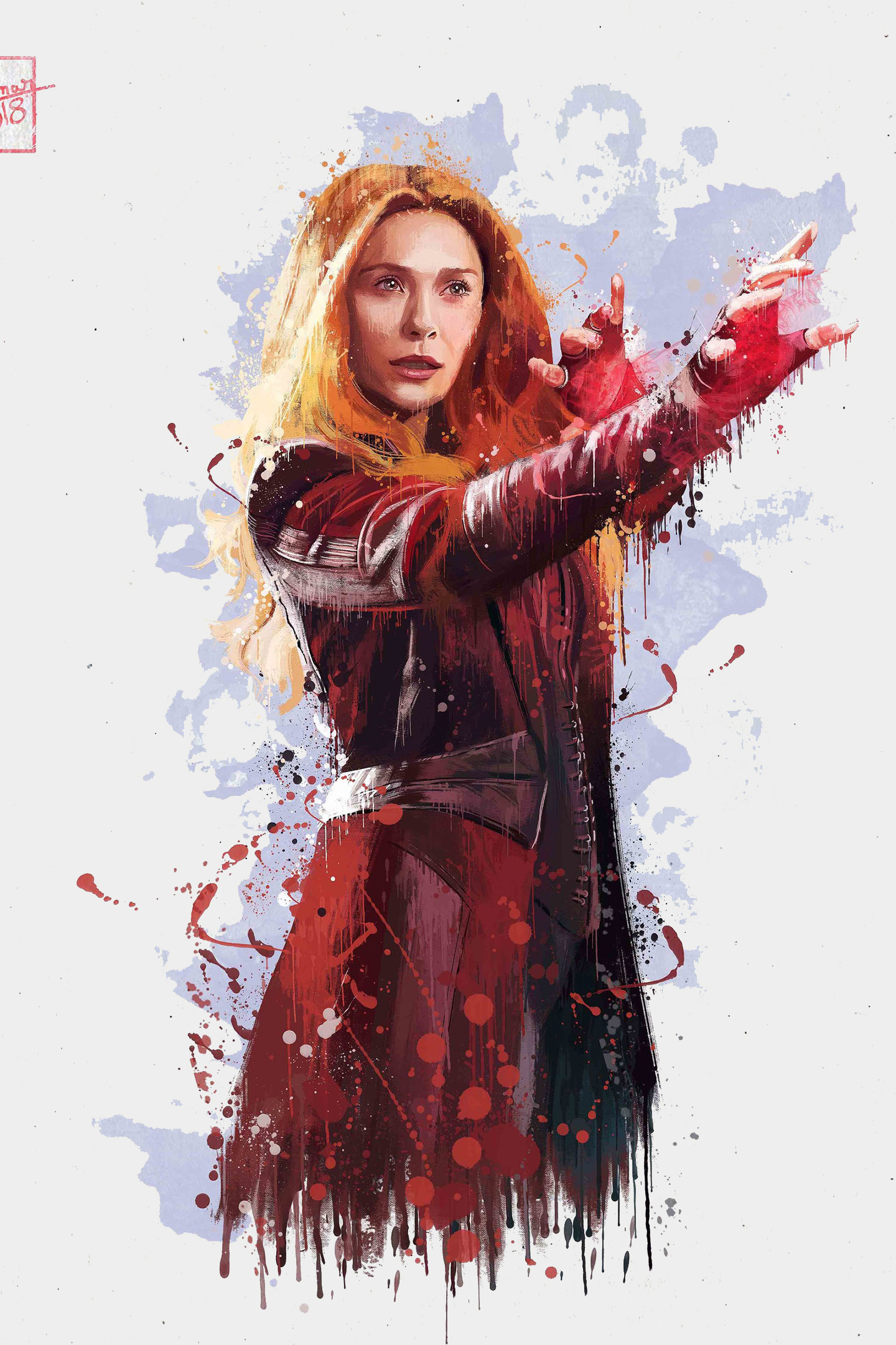 Beautiful Wallpaper Marvel Scarlet Witch - scarlet-witch-in-avengers-infinity-war-2018-4k-artwork  Best Photo Reference_338411.jpg