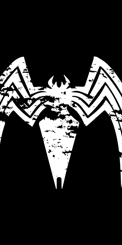 download 1440x2880 wallpaper venom logo villain minimal