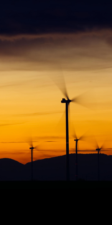 Windrader, windmill, sunset, 1440x2880 wallpaper