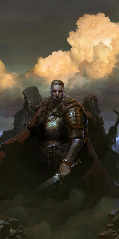 SpellForce 3, warriors, Video game, 1440x2880 wallpaper