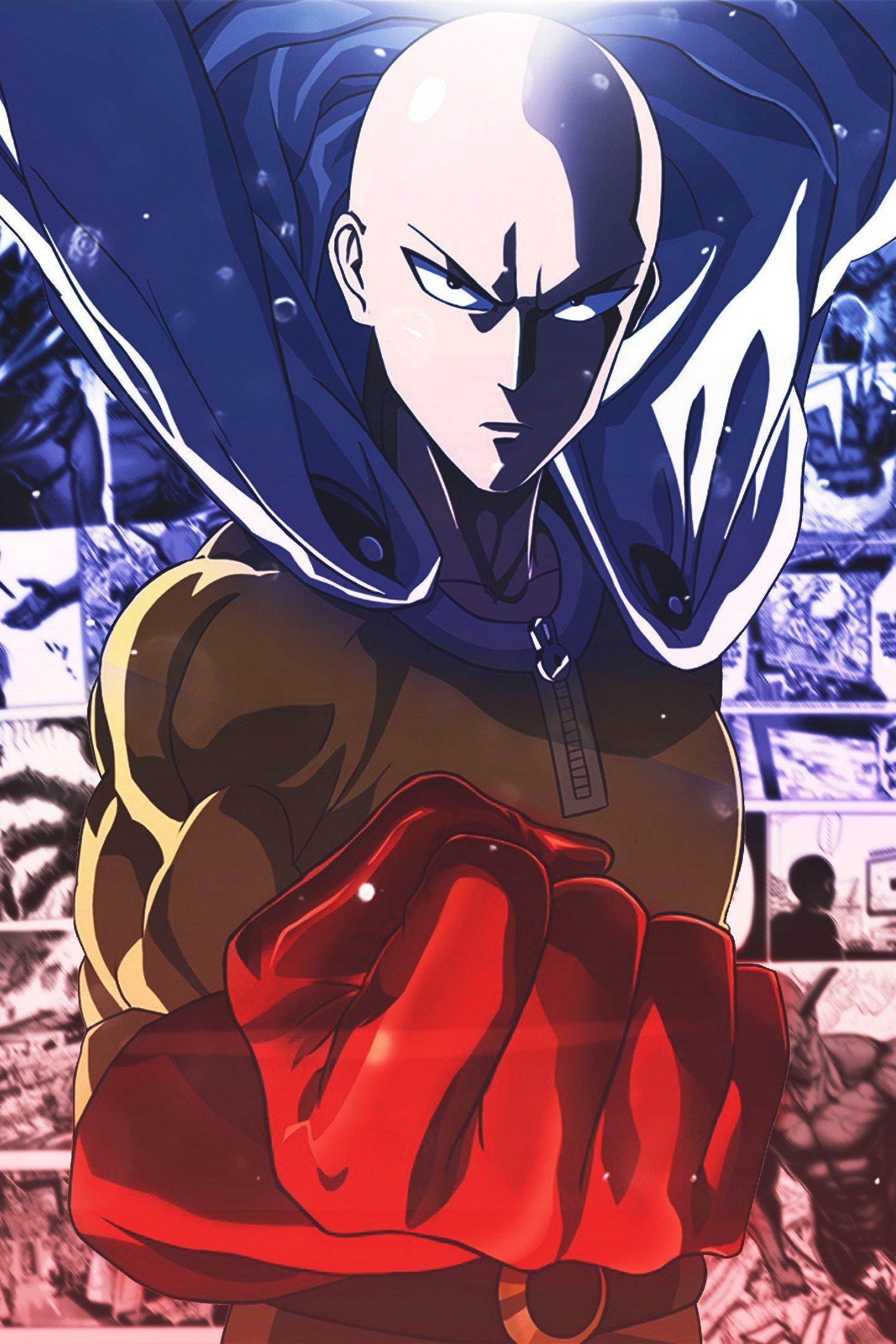 Download 1440x2880 Wallpaper Saitama Onepunch Man Anime Bald