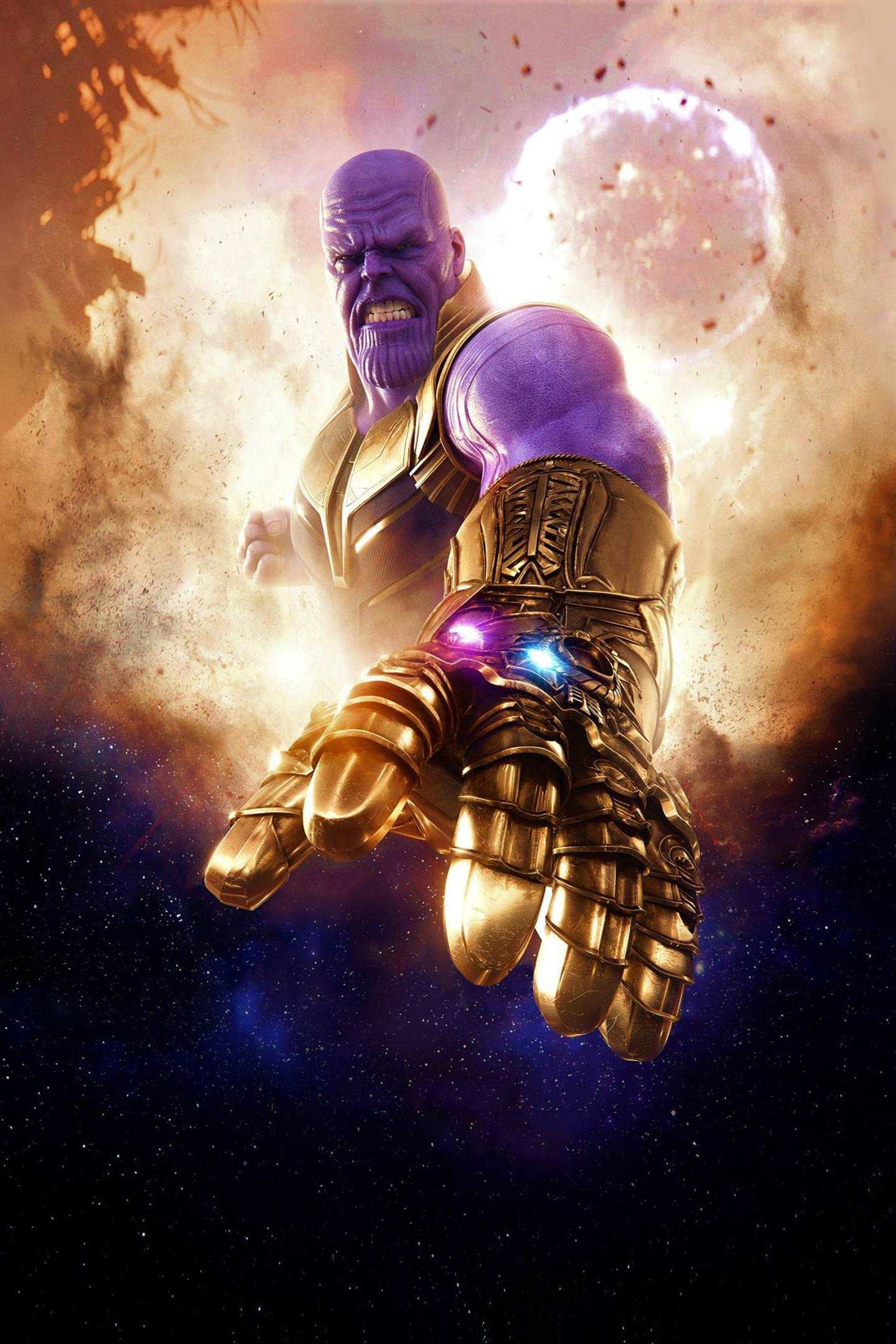 Download 1440x2880 wallpaper thanos clouds avengers for Sfondi infinity