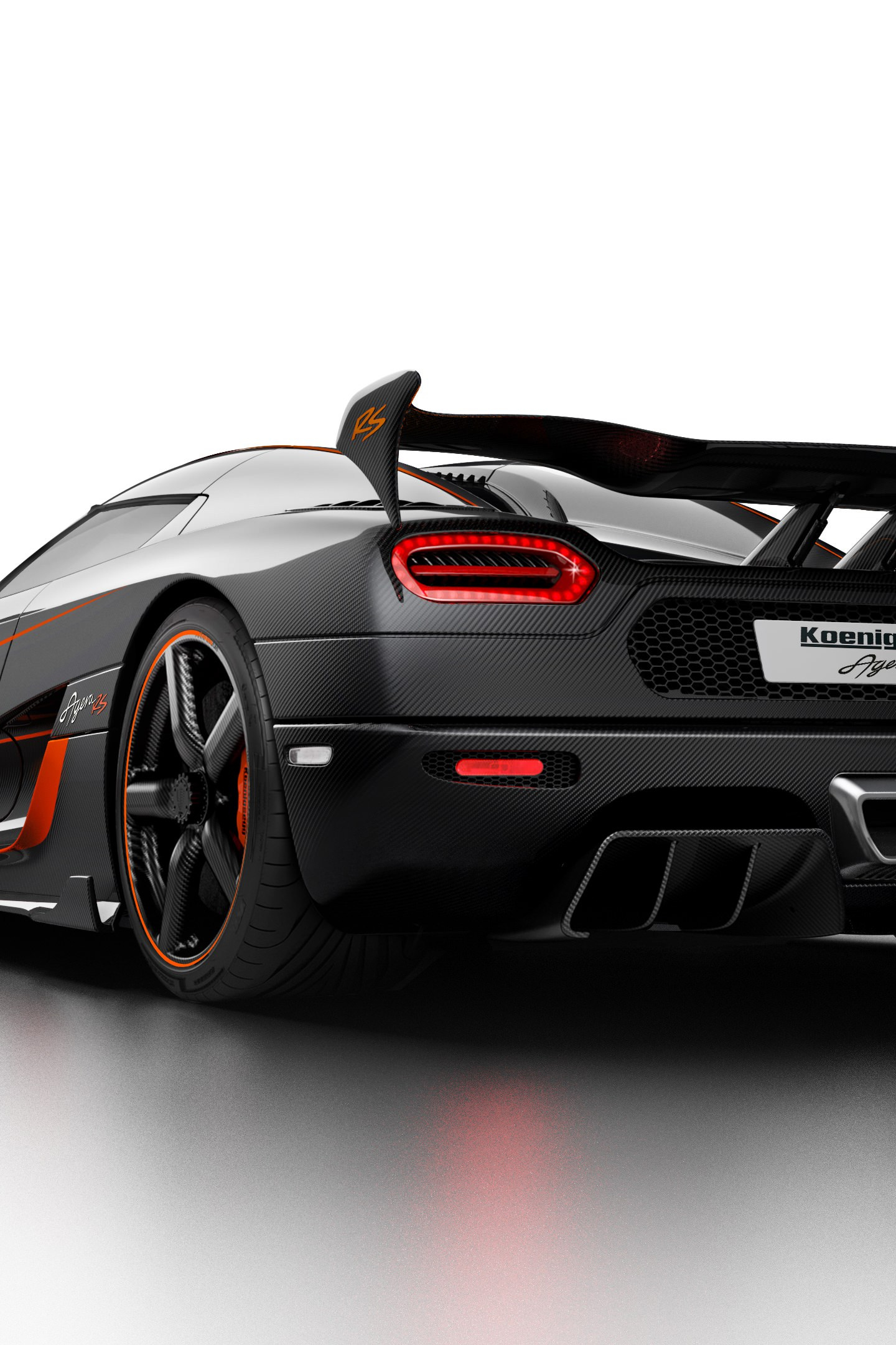 Koenigsegg Agera RS, sports car, rear, 1440x2880 wallpaper
