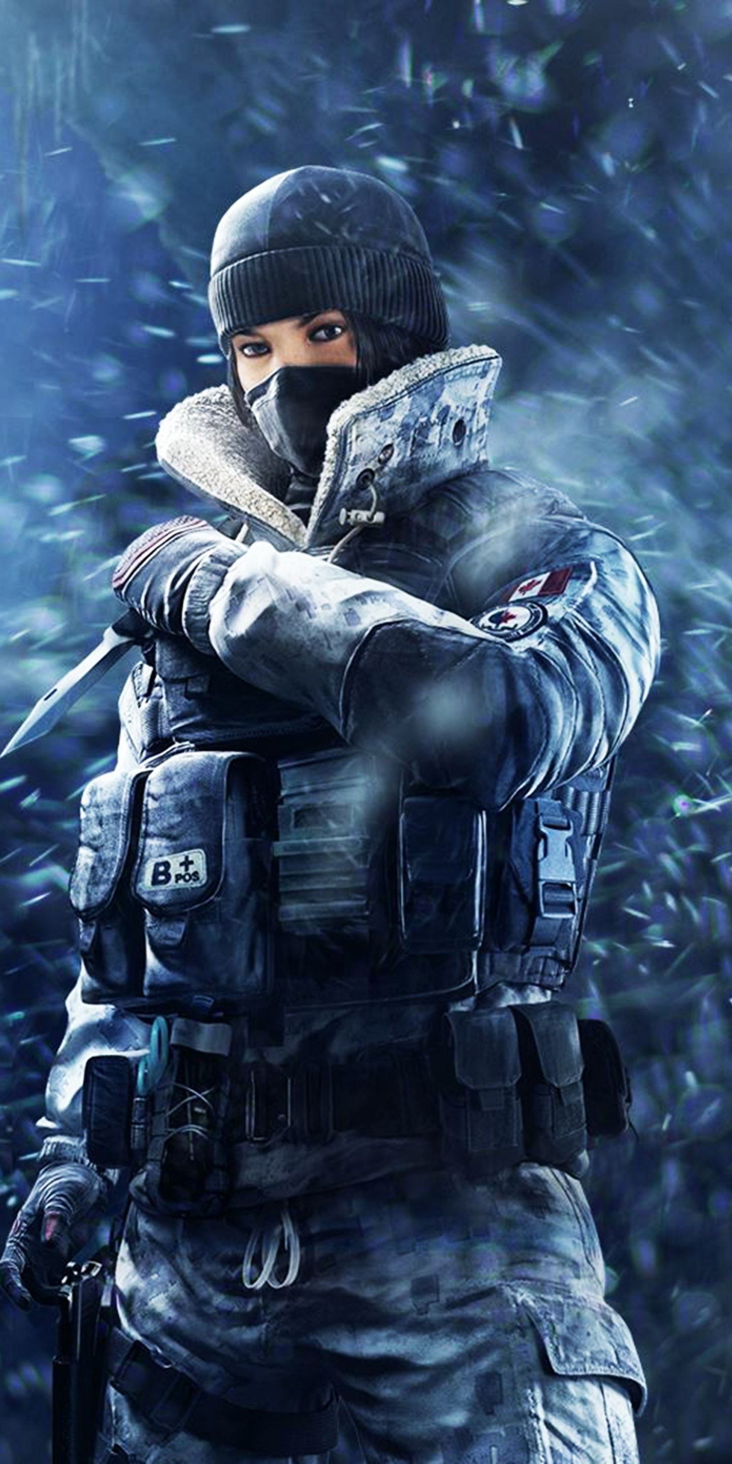 Tom Clancy's Rainbow Six Siege, girl soldier, frost, game, 1440x2880 wallpaper