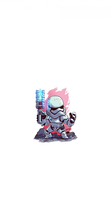 Download 1440x2880 Wallpaper Stormtropper Minimal Star Wars Lg V30 Lg G6 1440x2880 Hd Image Background 17515
