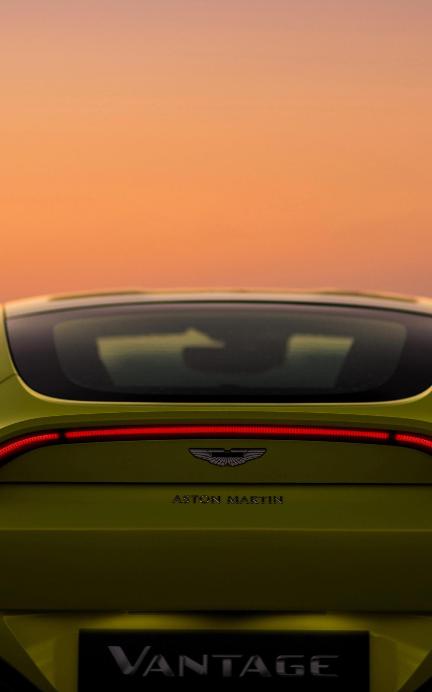 Download 1440x2880 Wallpaper Aston Martin V8 Vantage 2018 Car Rear Lg V30 Lg G6 1440x2880 Hd Image Background 1021
