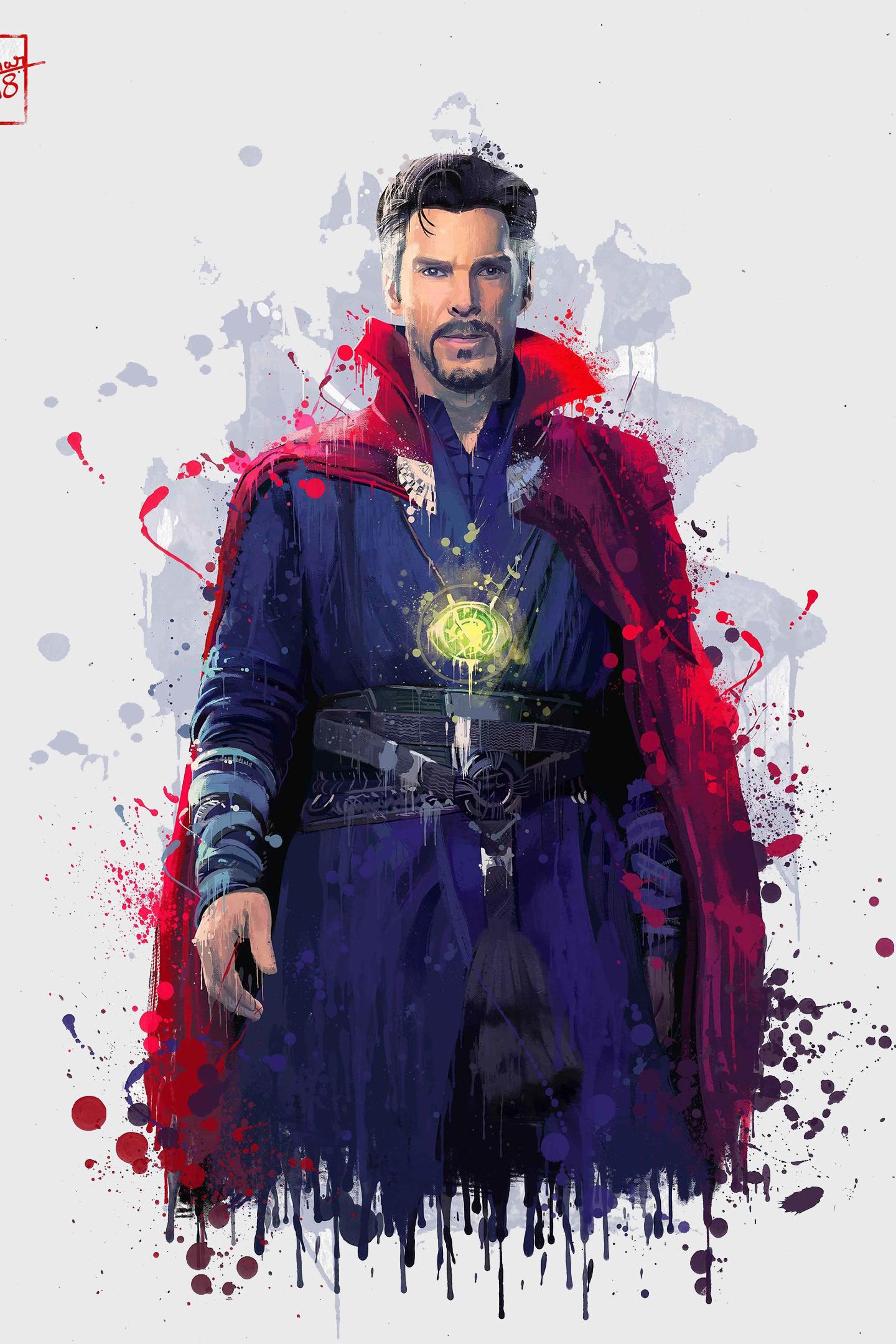 Doctor Strange, Avengers: infinity war, artwork, 1440x2880 wallpaper