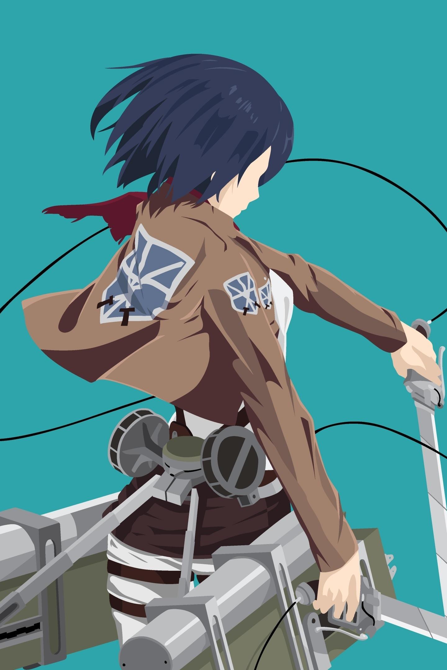 Download 1440x2880 Wallpaper Anime Girl Mikasa Ackerman Minimal Lg V30 Lg G6 1440x2880 Hd Image Background 4075