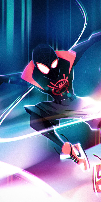 Download 1440x2880 Wallpaper Spider Man Into The Spider Verse