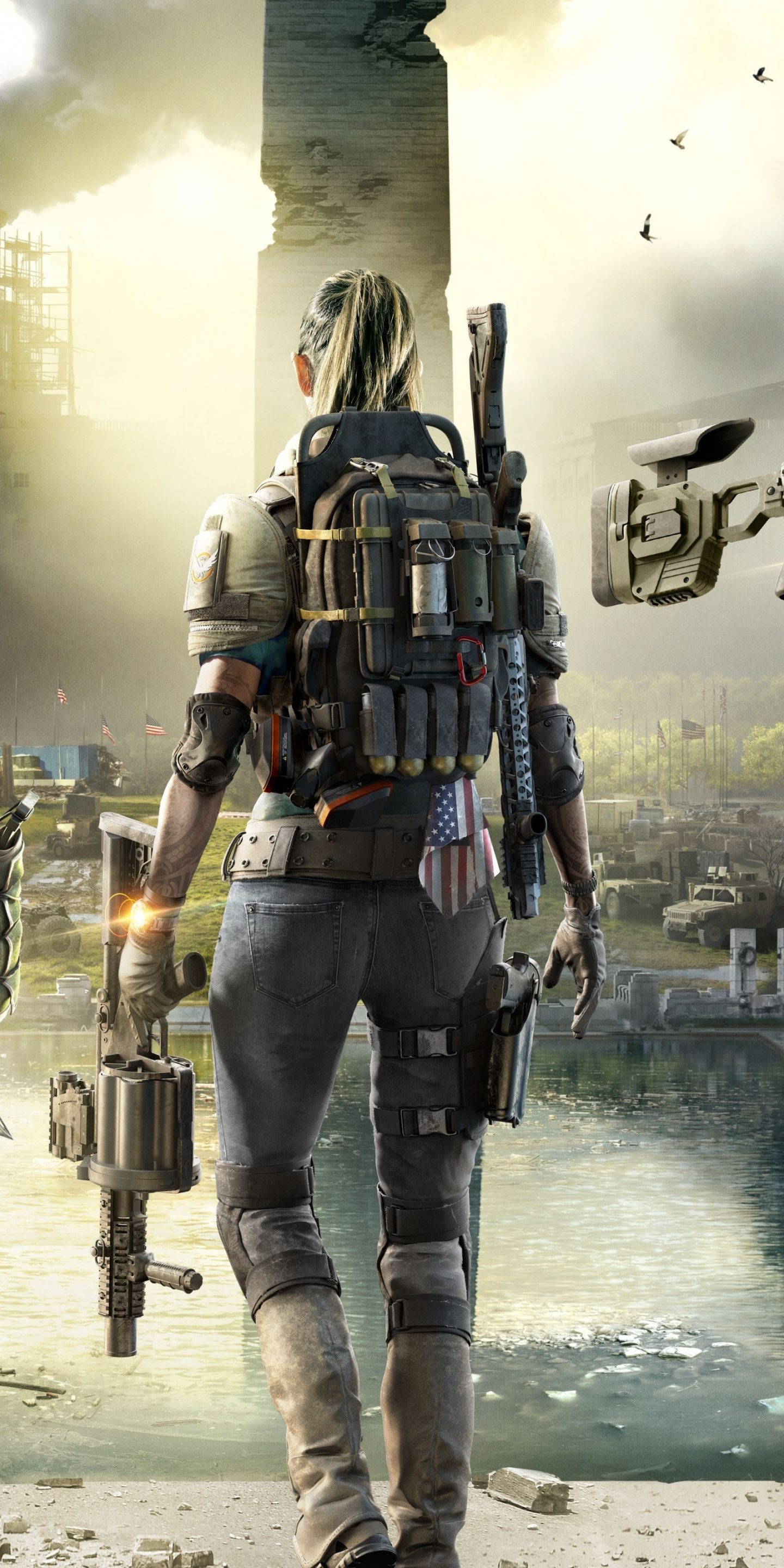 Download 1440x2880 Wallpaper Tom Clancys The Division 2