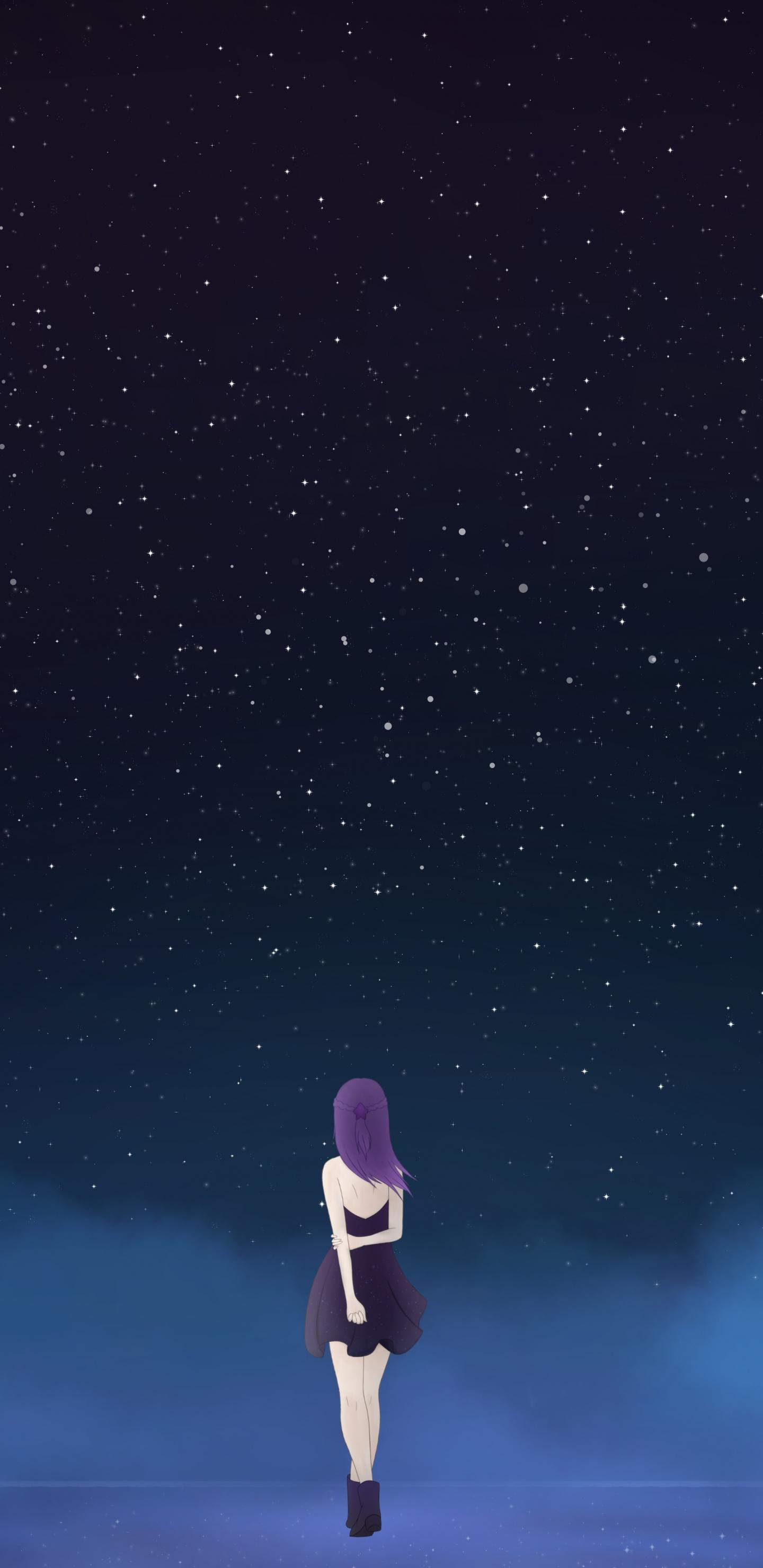 Anime Galaxy Background Materi Pelajaran 6