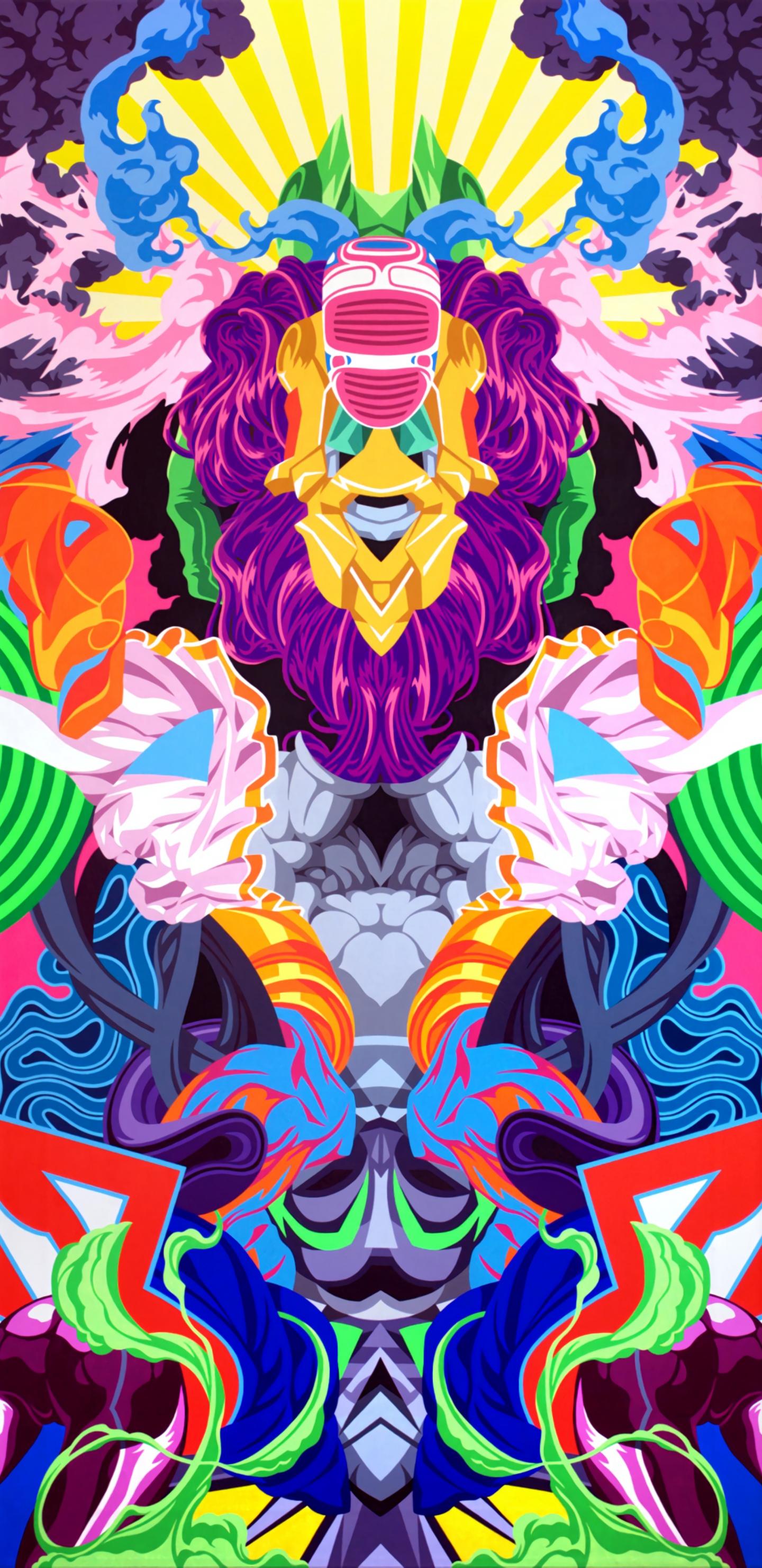 colorful motley psychedelic art