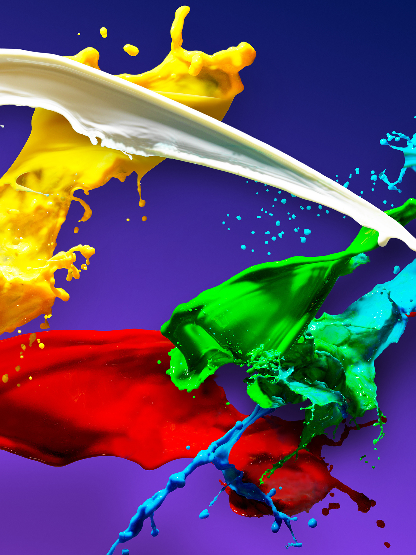 Download 1440x2960 Wallpaper Colors Splashes Colorful