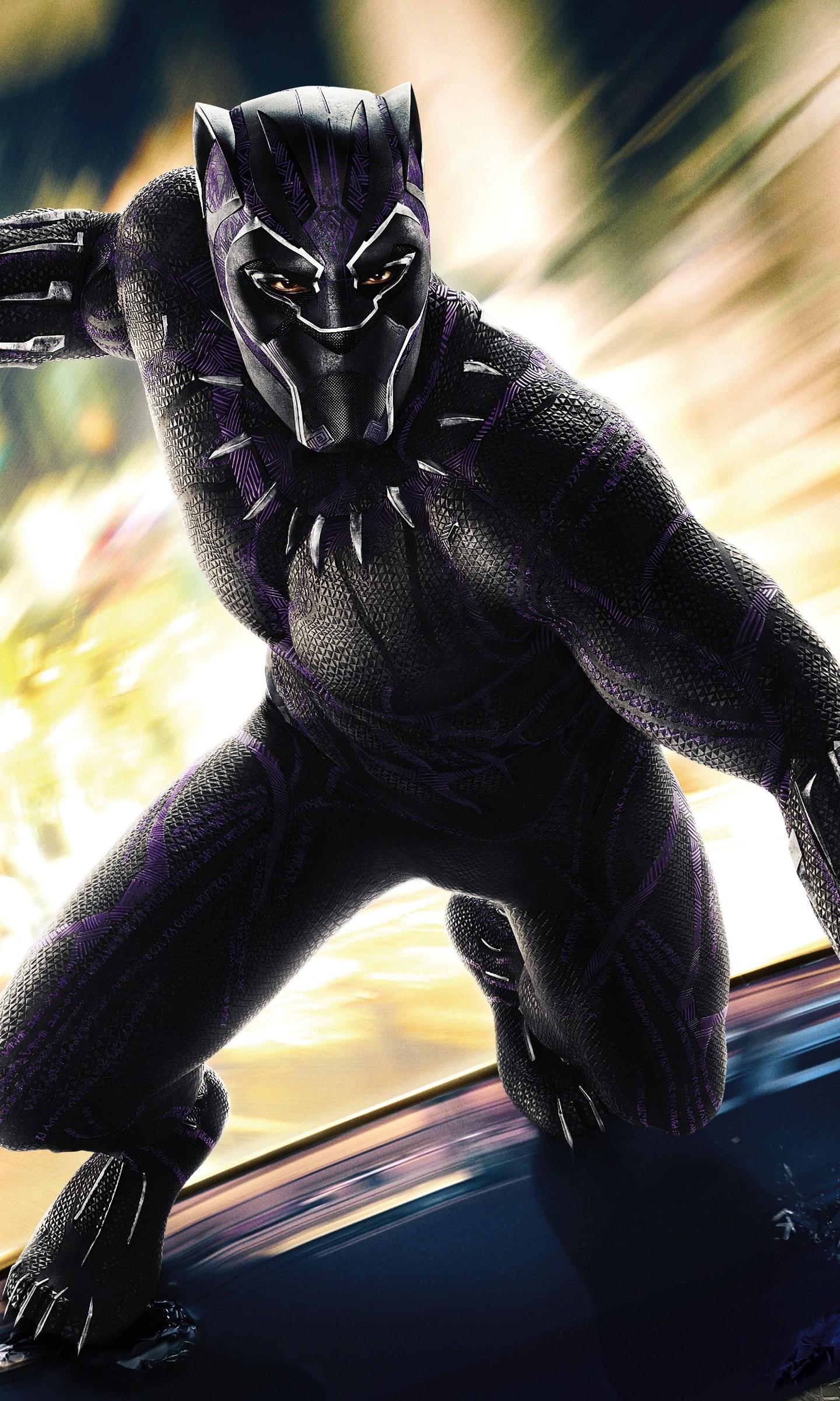 Download 1440x2960 Wallpaper Black Panther 2018 Movie Superhero