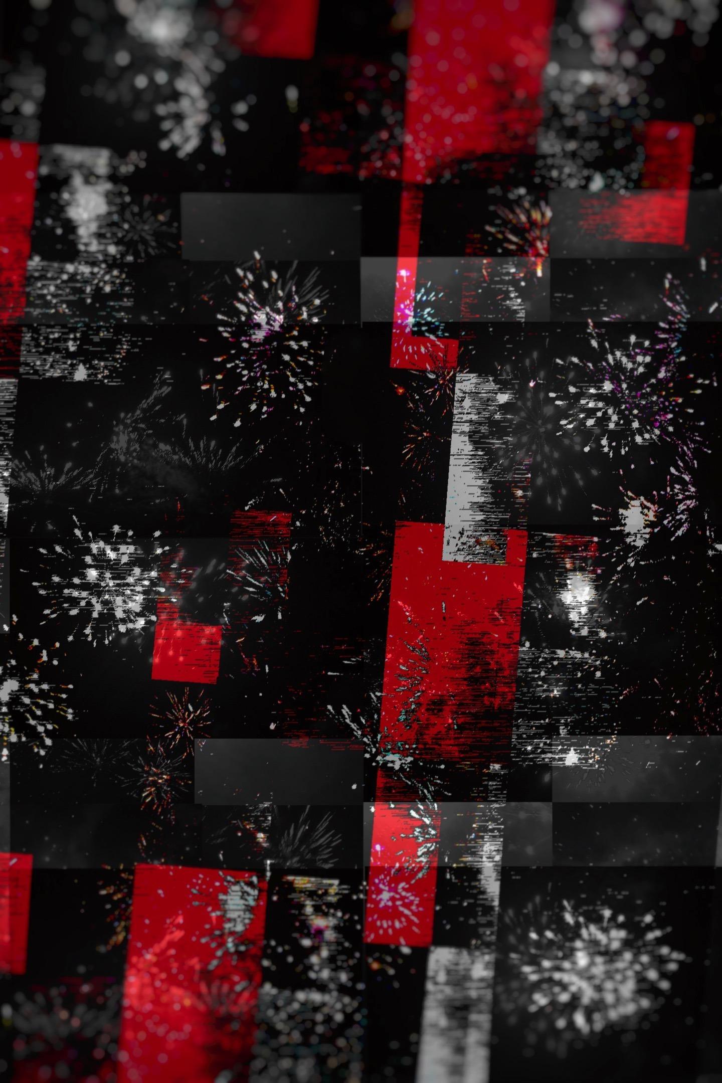 Download 1440x2960 wallpaper glitch art, abstract, dark