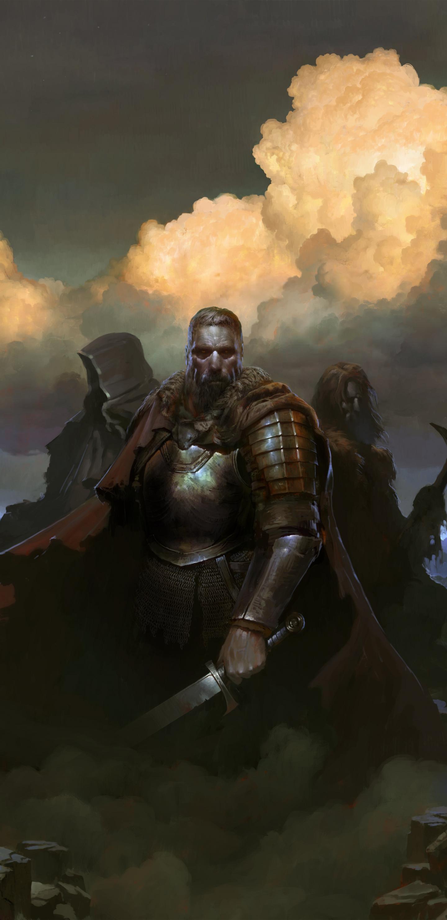 SpellForce 3, warriors, Video game, 1440x2960 wallpaper