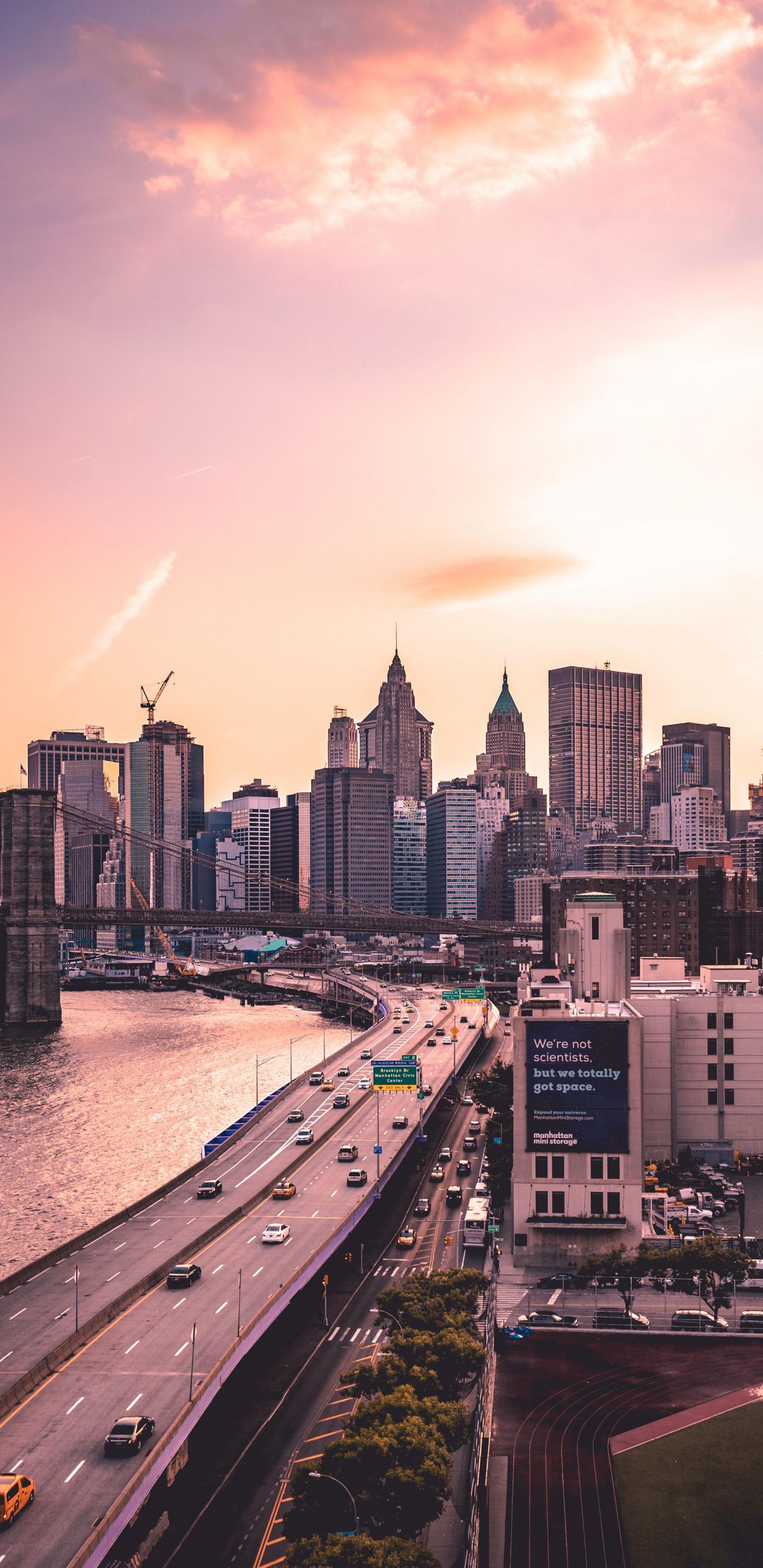 Download 1440x2960 Wallpaper Manhattan Bridge New York City Buildings Susnet Samsung Galaxy S8 Samsung Galaxy S8 Plus 1440x2960 Hd Image Background 10333