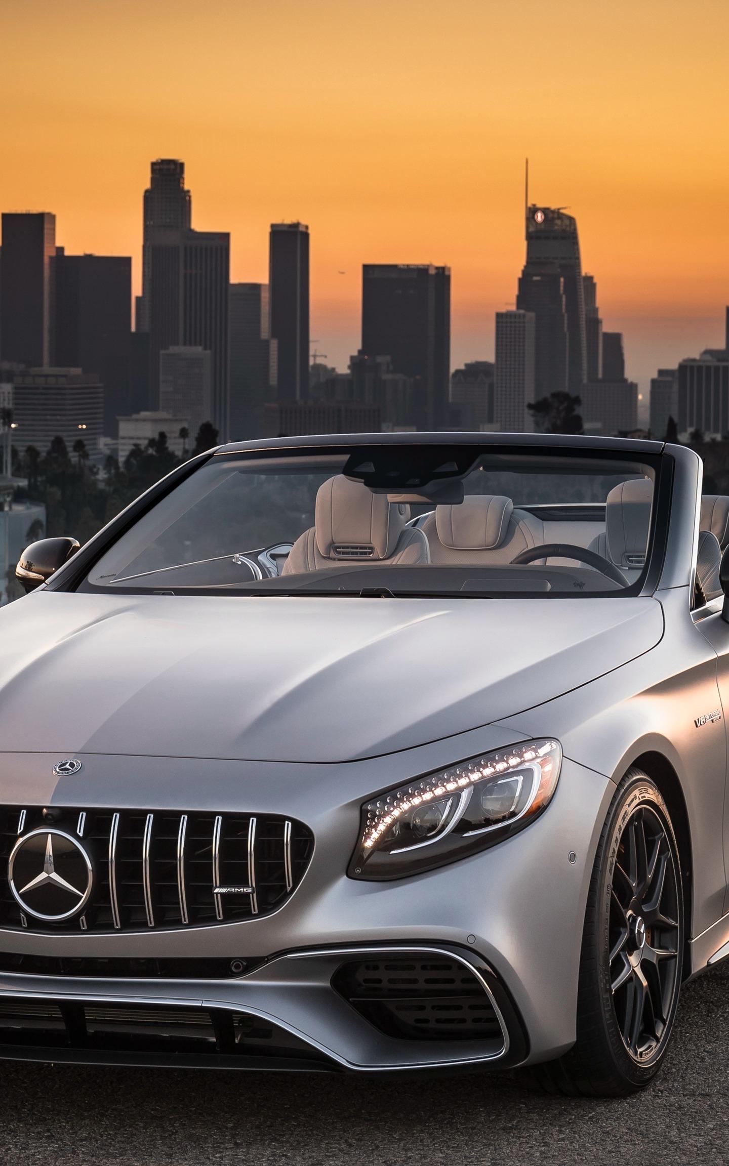 Mercedes-AMG S63 4MATIC Cabriolet, sports car, 1440x2960 wallpaper