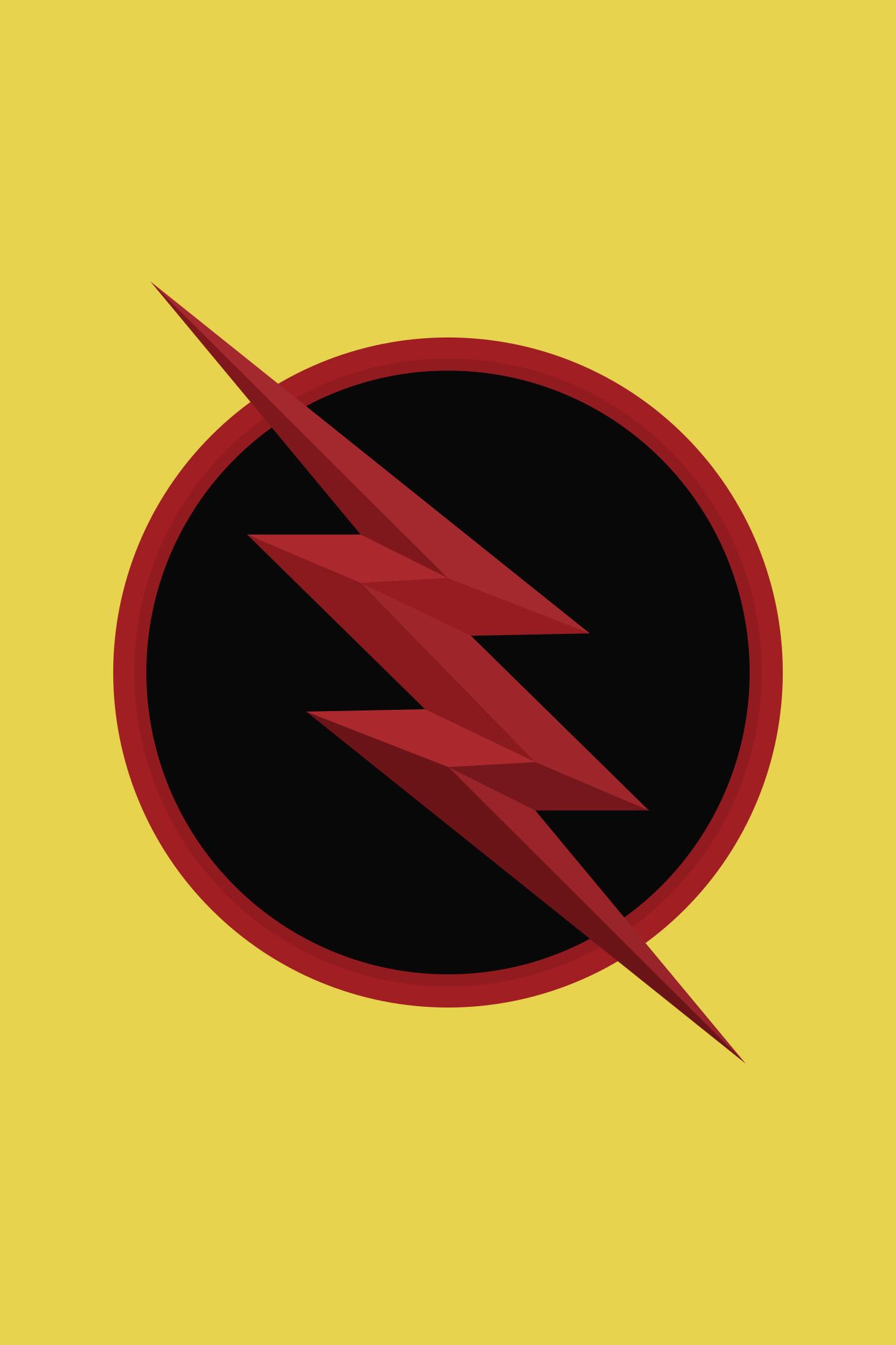 Download 1440x2960 Wallpaper Reverse Flash Logo Dc Comics