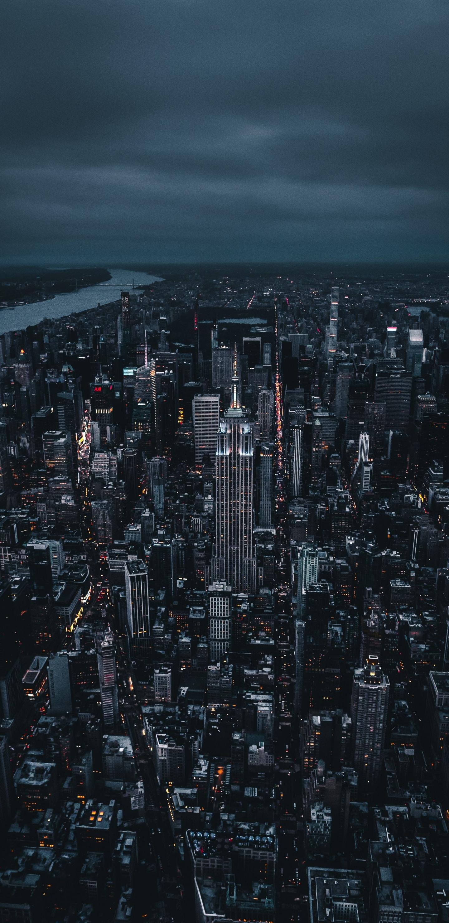 Download 1440x2960 Wallpaper New York Dark Night City Aerial View Samsung Galaxy S8 Samsung Galaxy S8 Plus 1440x2960 Hd Image Background 16532