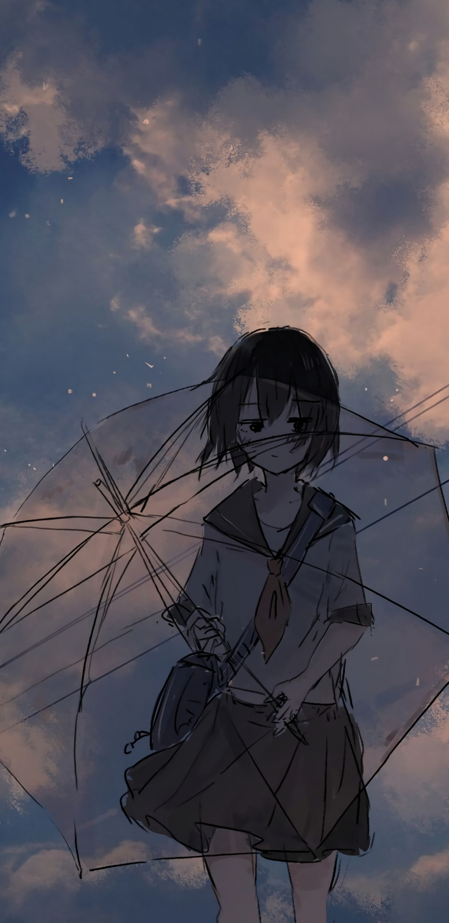 Download 1440x2960 Wallpaper Anime Girl And Umbrella Art Samsung Galaxy S8 Samsung Galaxy S8 Plus 1440x2960 Hd Image Background 24688