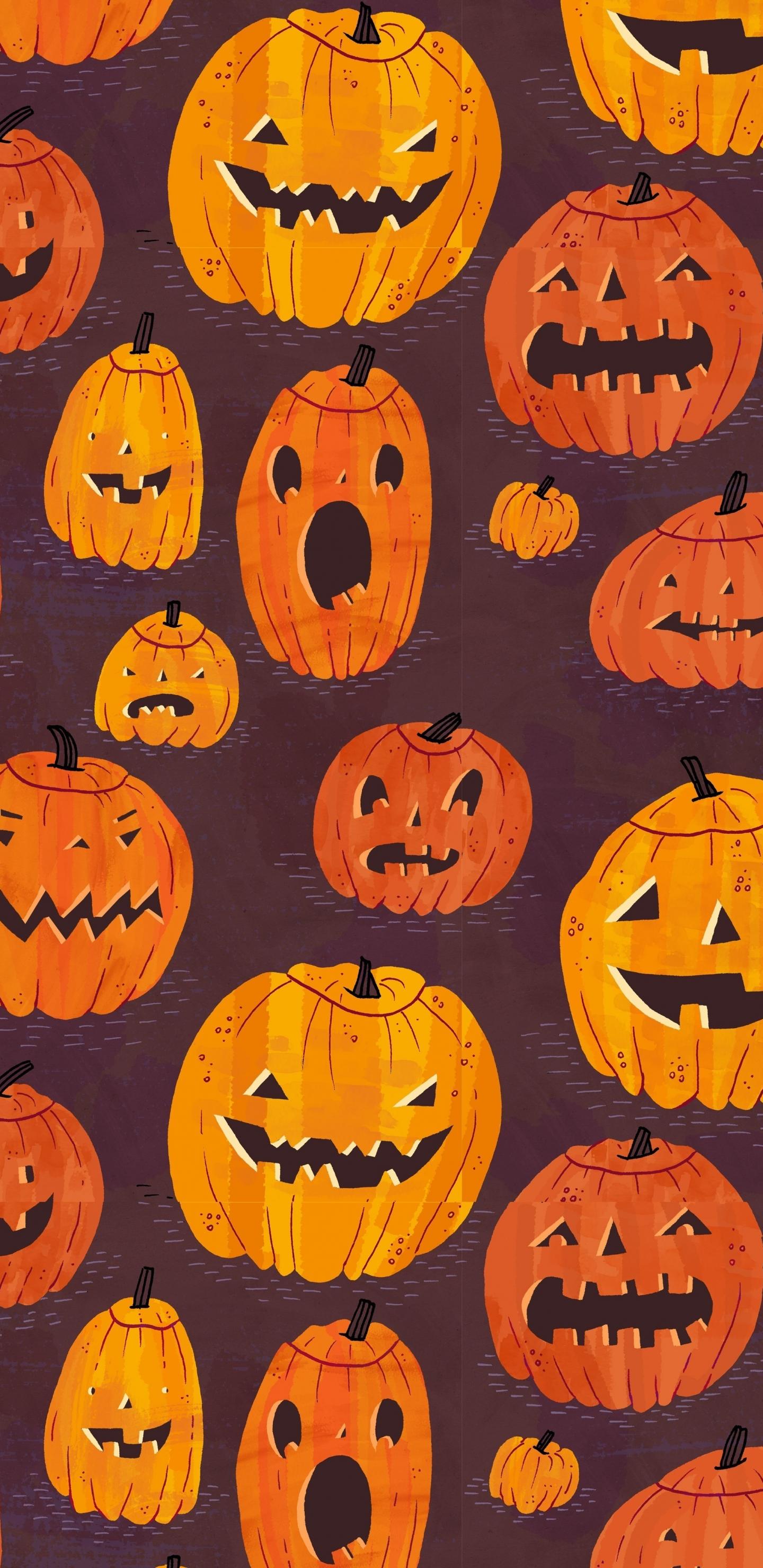 Download 1440x2960 Wallpaper Pumpkin Pattern Halloween Samsung Galaxy S8 Samsung Galaxy S8 Plus 1440x2960 Hd Image Background 464