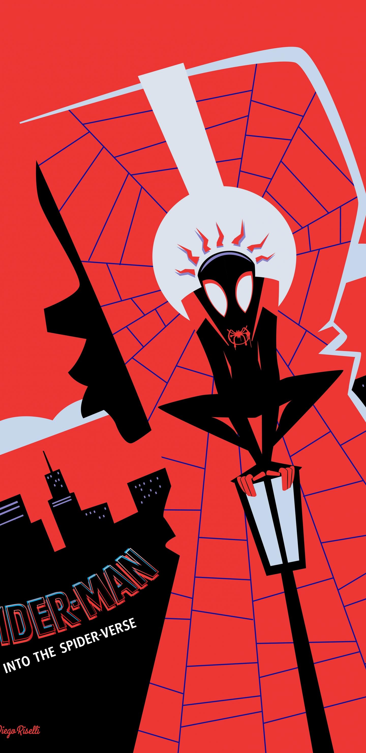 Download 1440x2960 Wallpaper Spider Man Into The Spider Verse