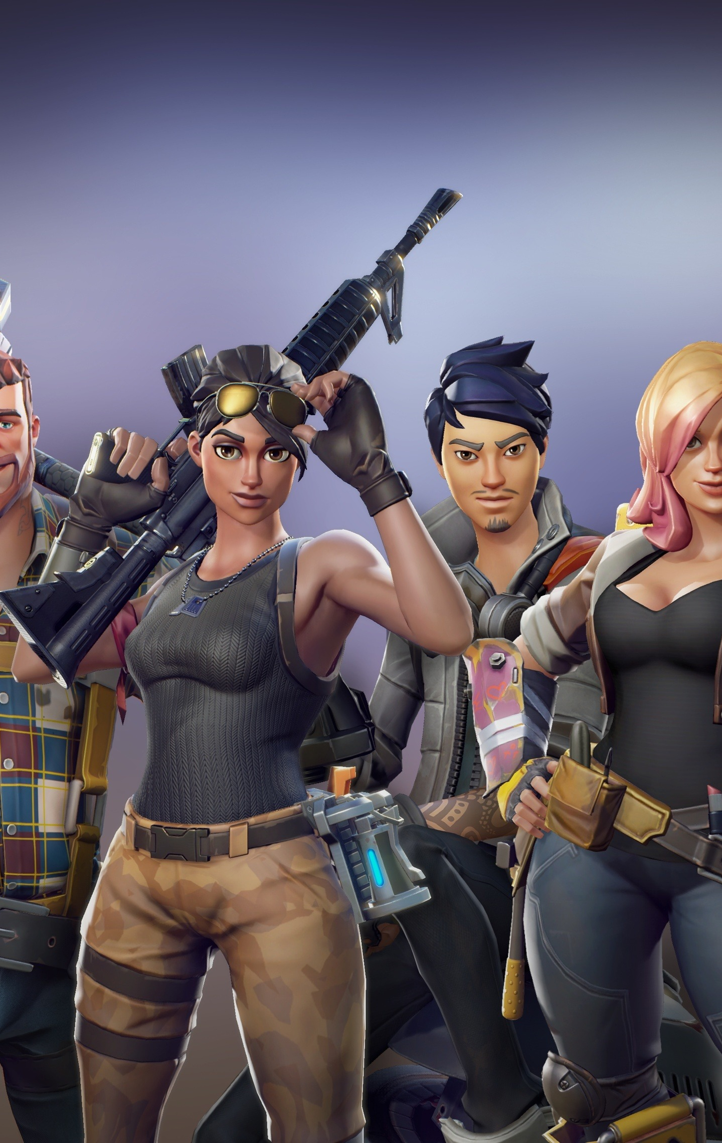 All Characters, Video Game, Fortnite, 1440x2960 Wallpaper