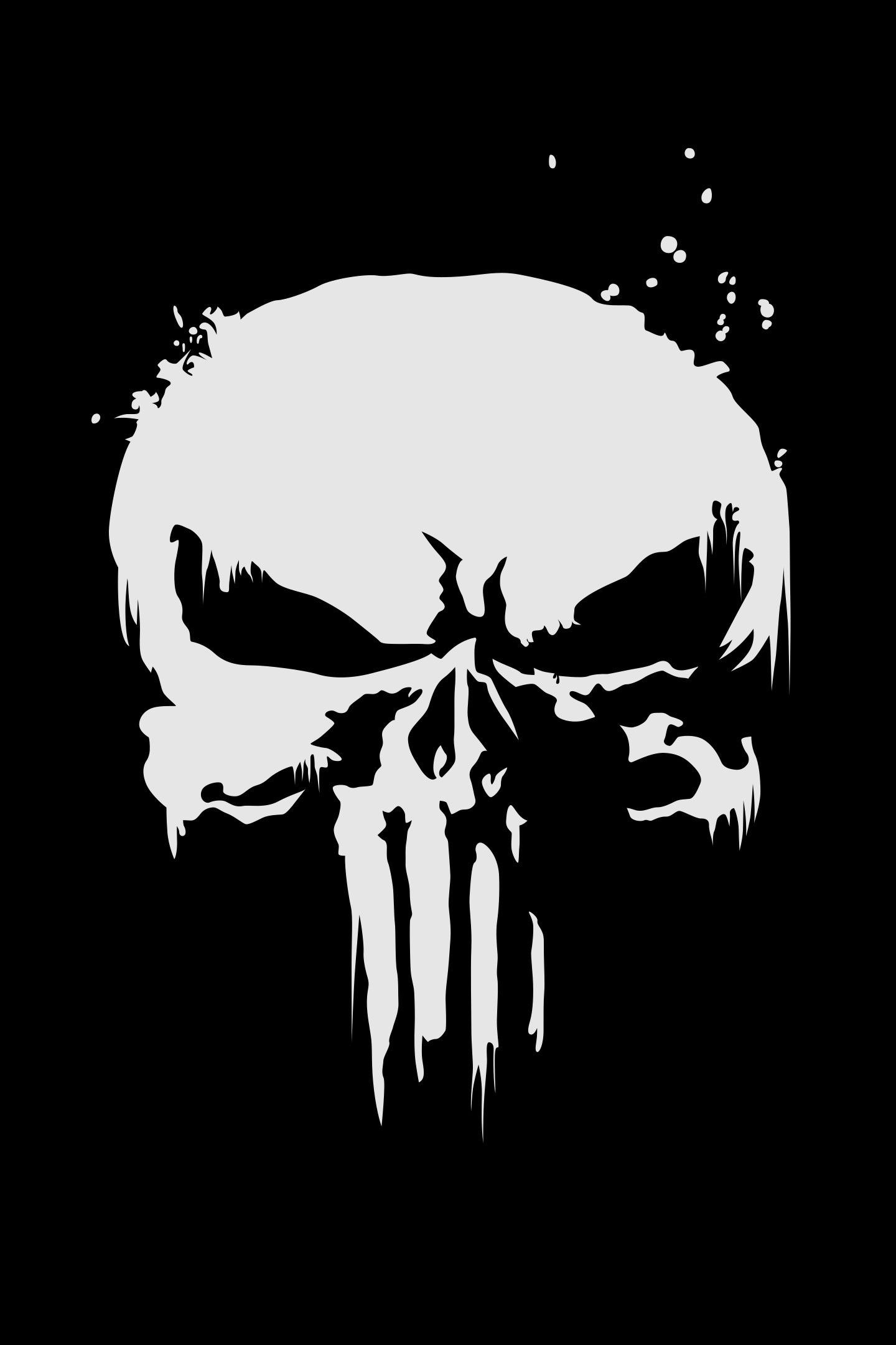 Download 1440x2960 Wallpaper The Punisher Logo Skull